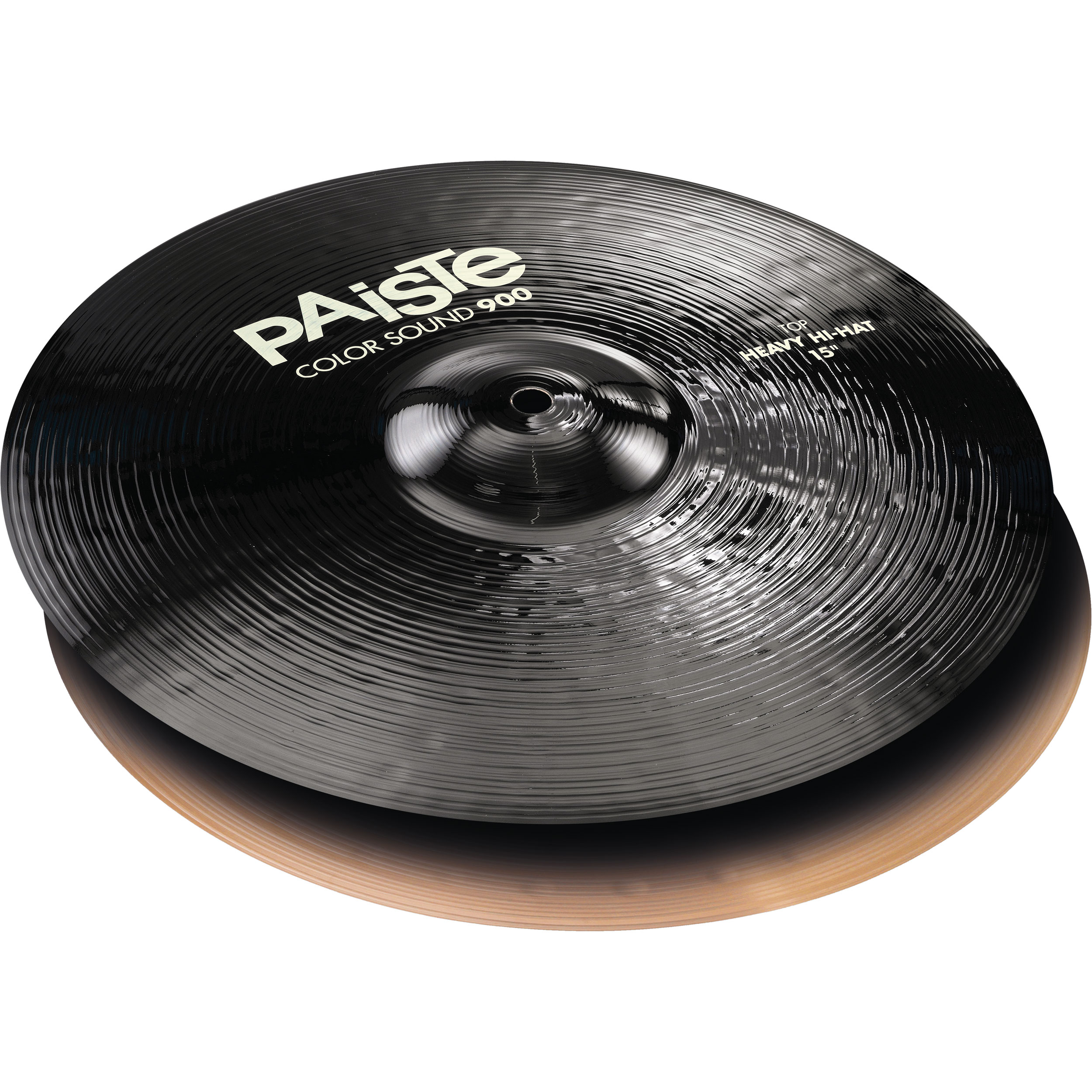 "Paiste 15"" Color Sound 900 Black Heavy Hi Hat Cymbals"