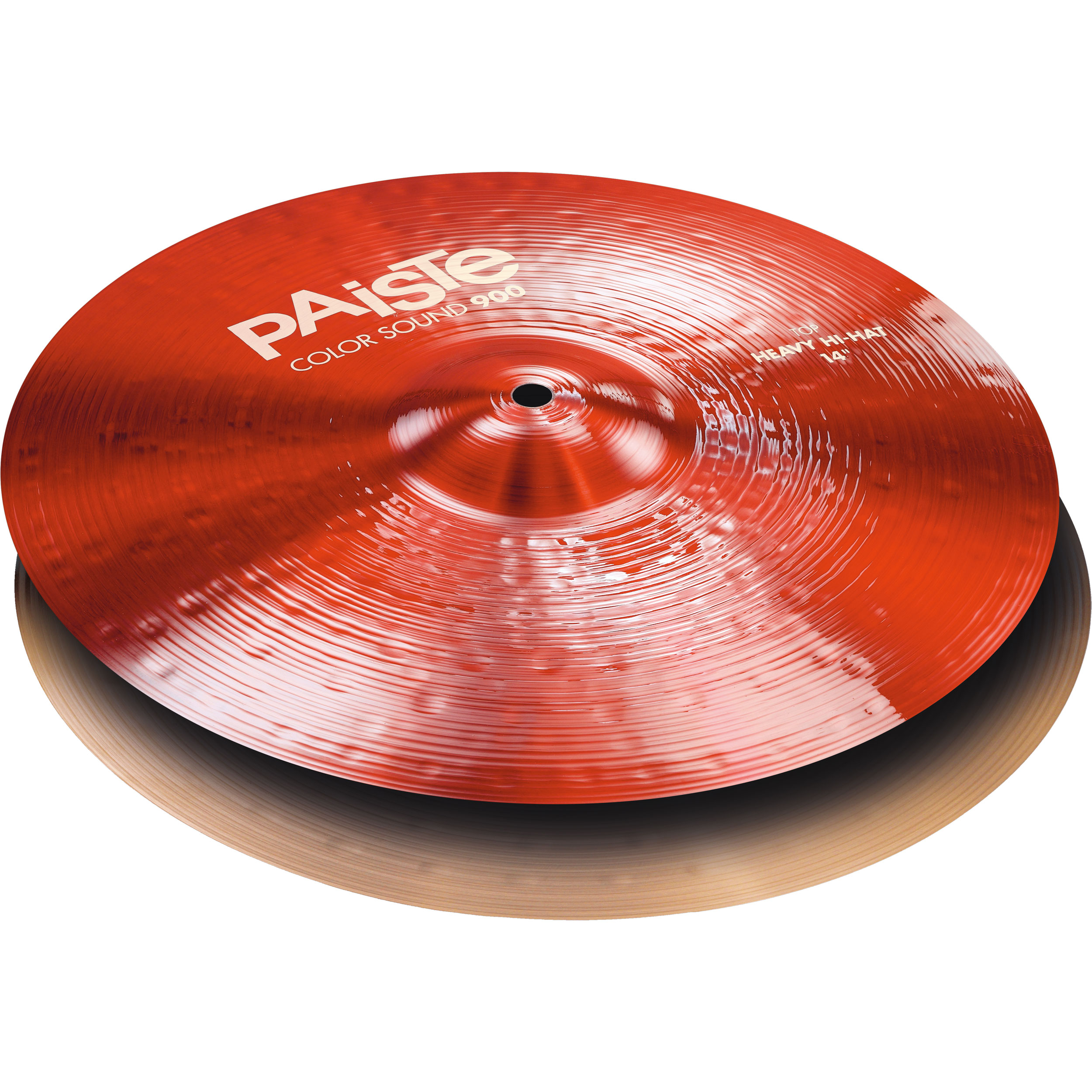 "Paiste 14"" Color Sound 900 Red Heavy Hi Hat Cymbals"