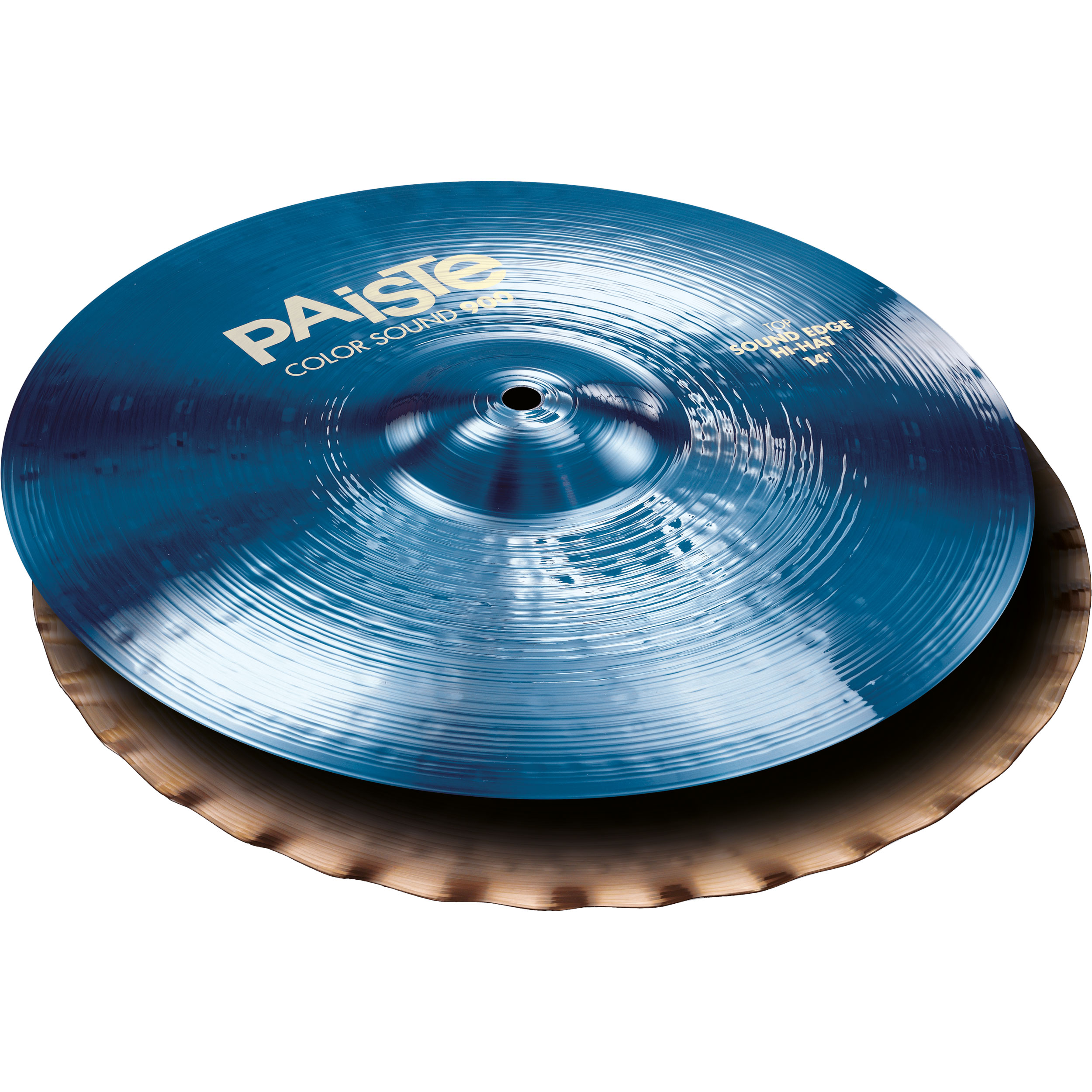 "Paiste 14"" Color Sound 900 Blue Sound Edge Hi Hat Cymbals"