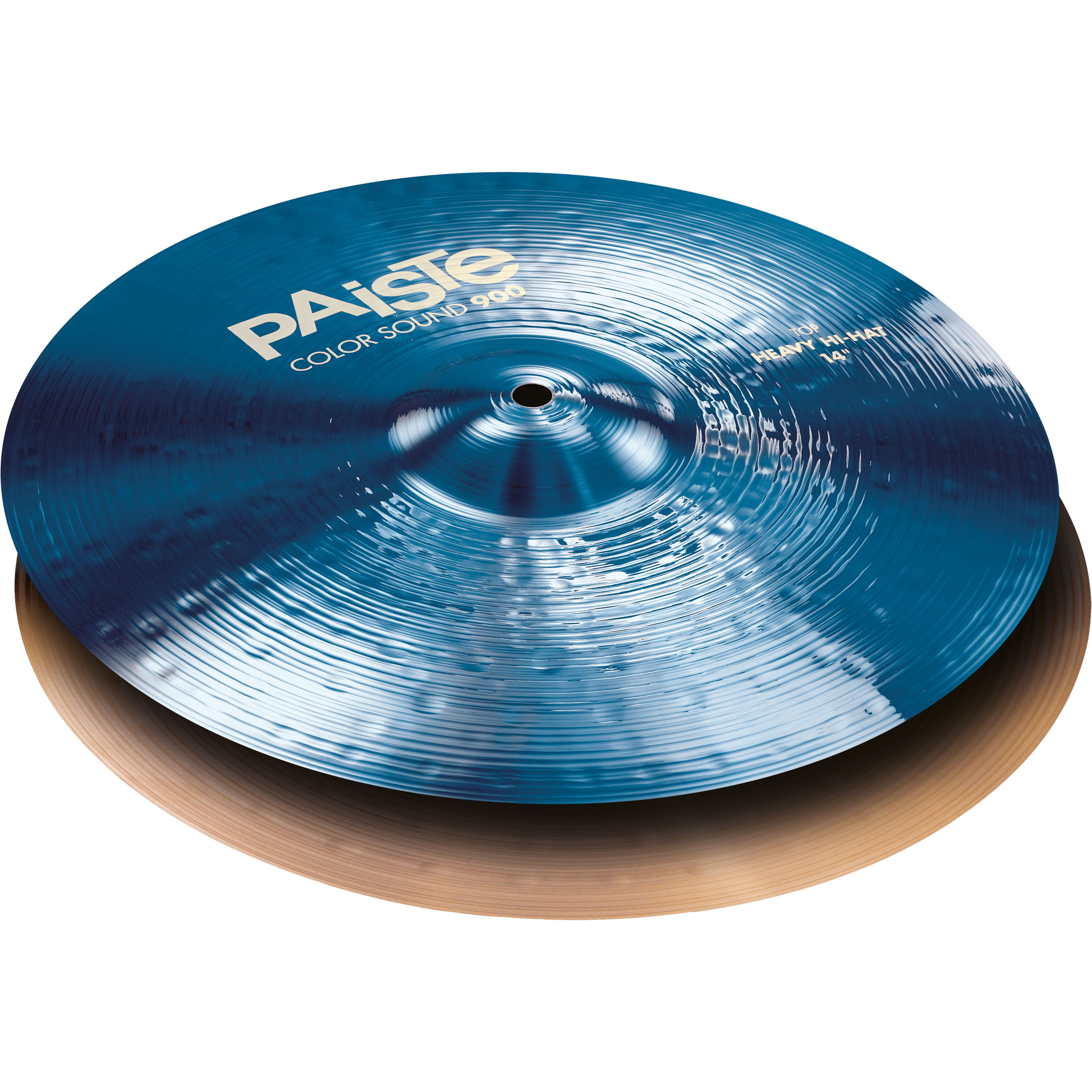 "Paiste 14"" Color Sound 900 Blue Heavy Hi Hat Cymbals"