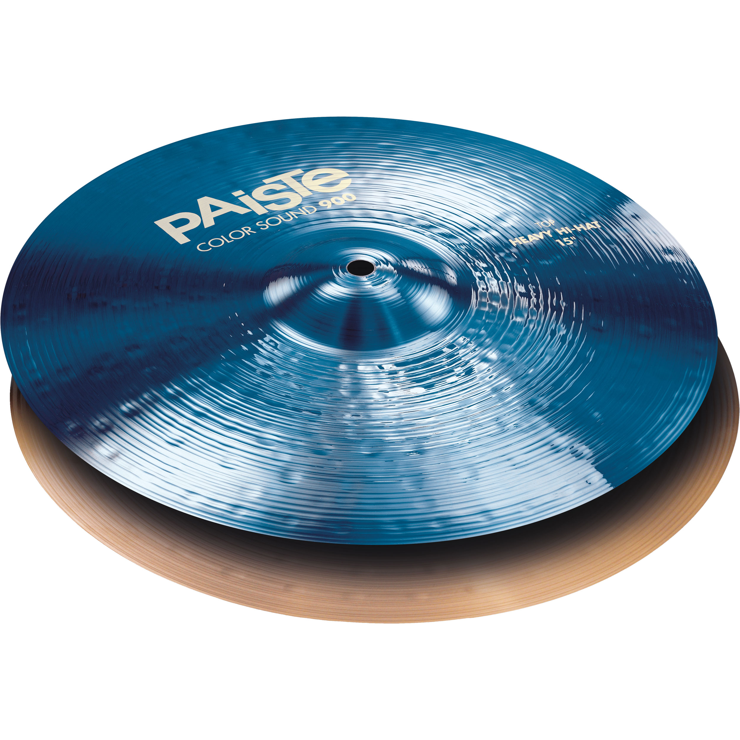 "Paiste 15"" Color Sound 900 Blue Heavy Hi Hat Cymbals"