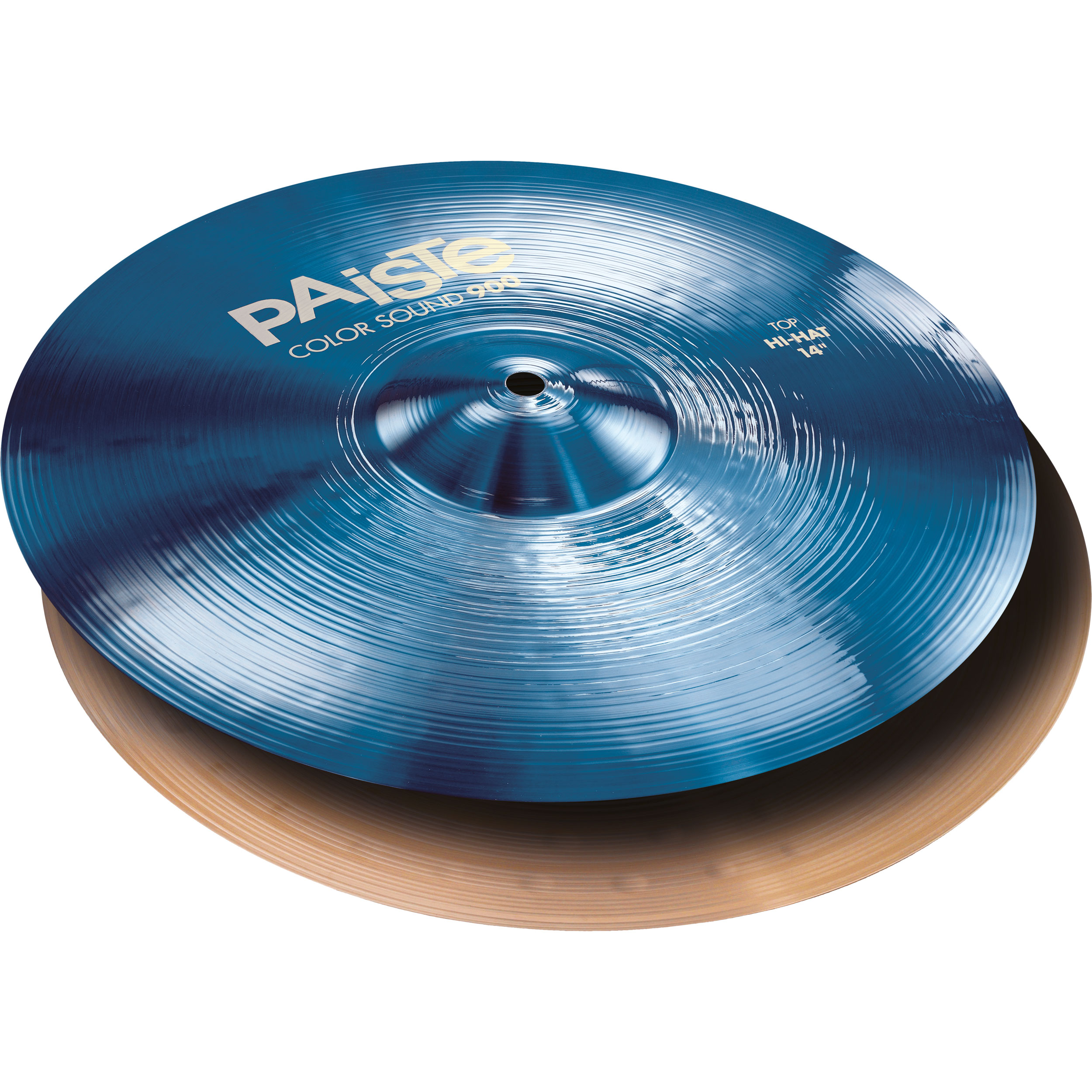 "Paiste 14"" Color Sound 900 Blue Hi Hat Cymbals"
