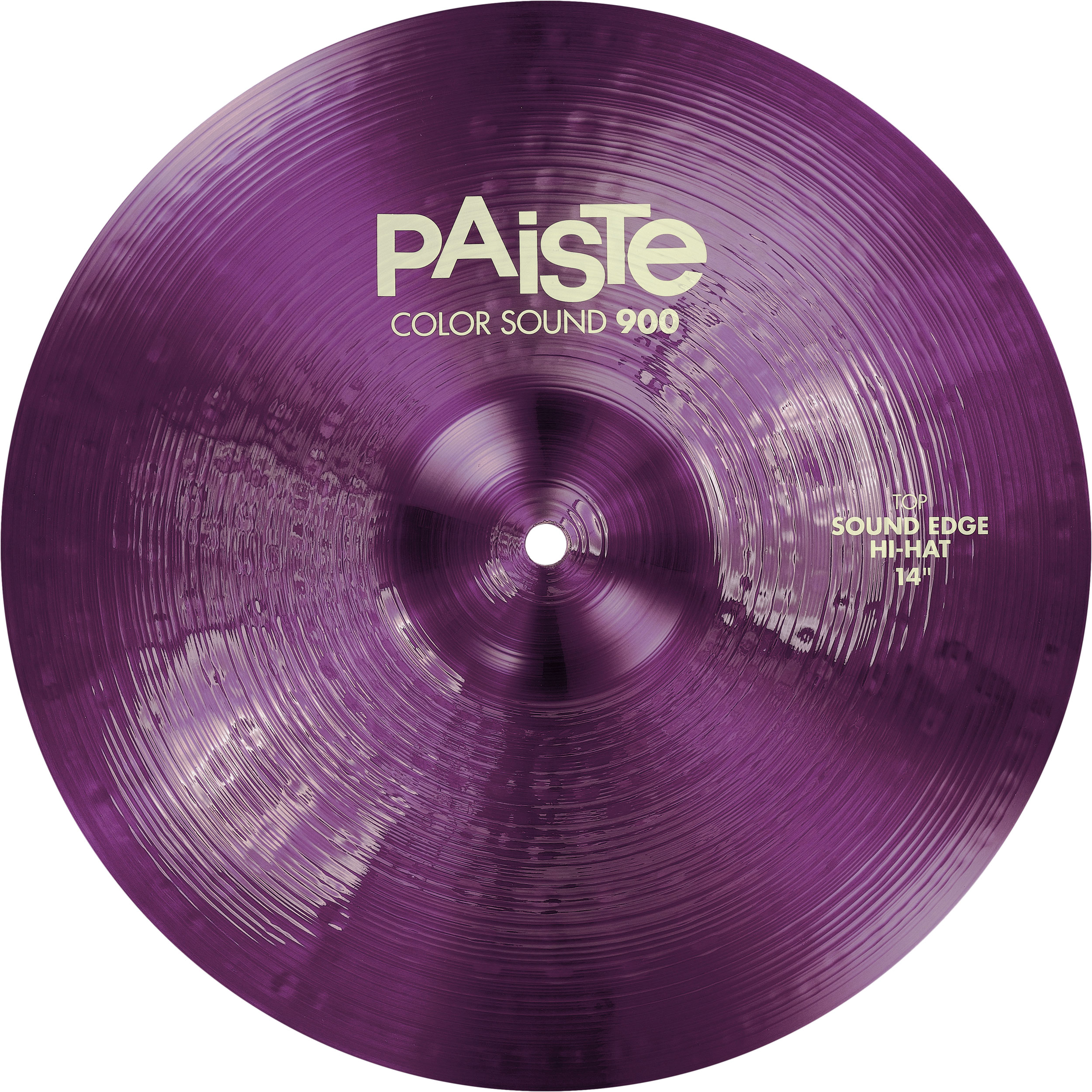 "Paiste 14"" Color Sound 900 Purple Sound Edge Hi Hat Cymbals"