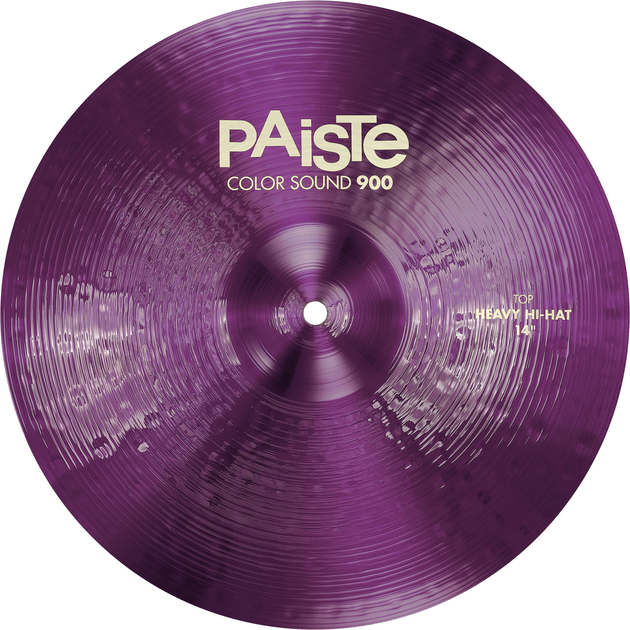 "Paiste 14"" Color Sound 900 Purple Heavy Hi Hat Cymbals"