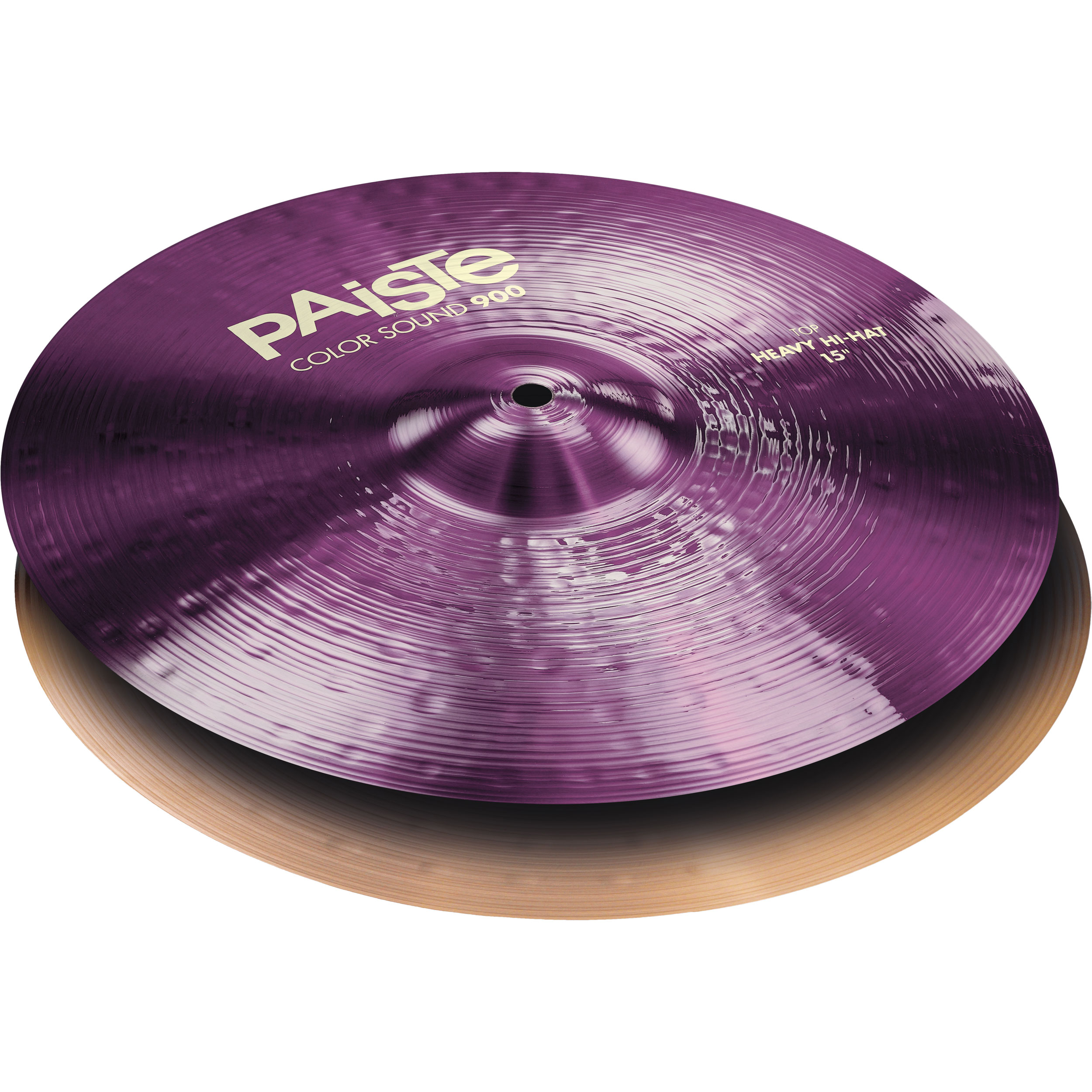 "Paiste 15"" Color Sound 900 Purple Heavy Hi Hat Cymbals"