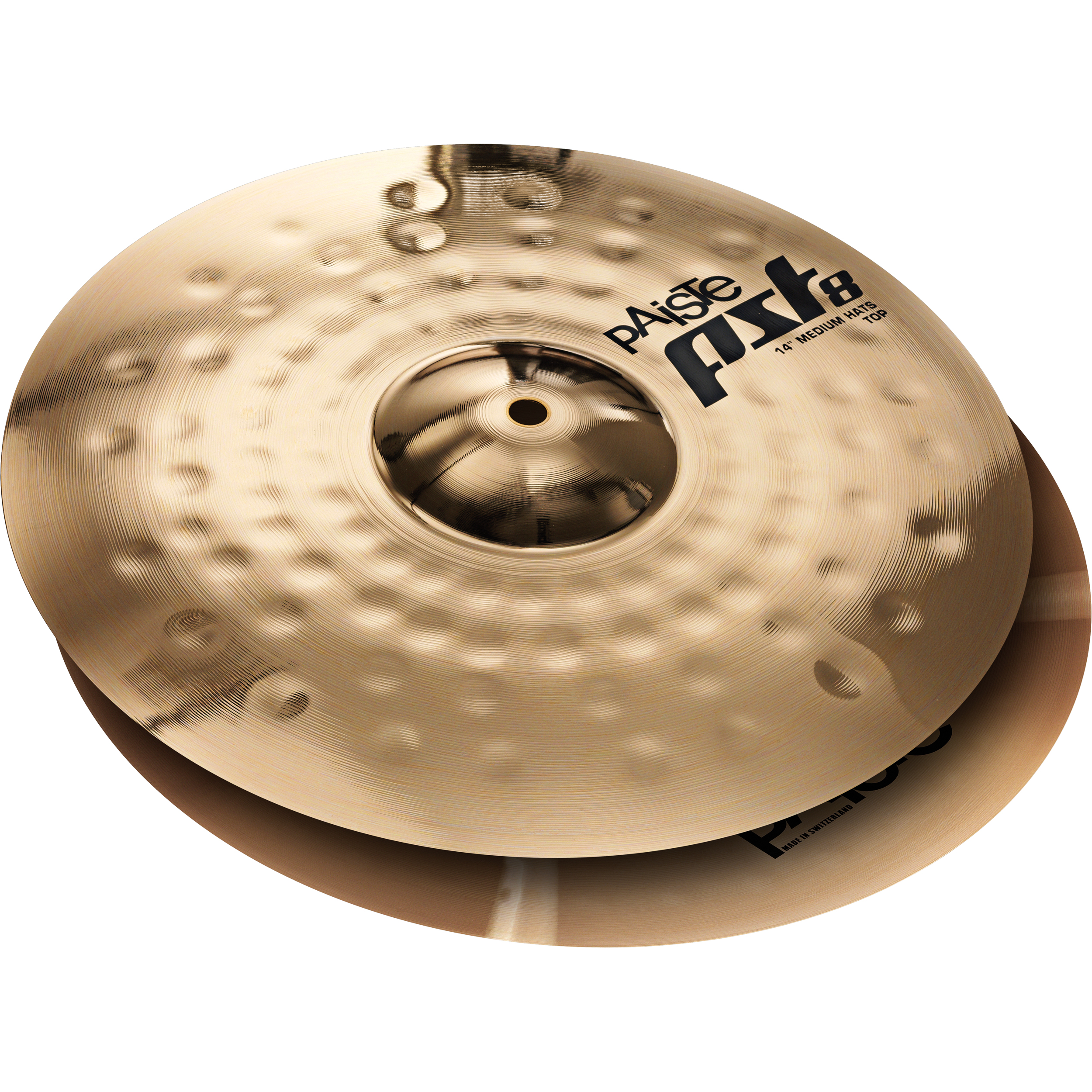 "Paiste 14"" PST 8 Reflector Medium Hi Hat Cymbals"