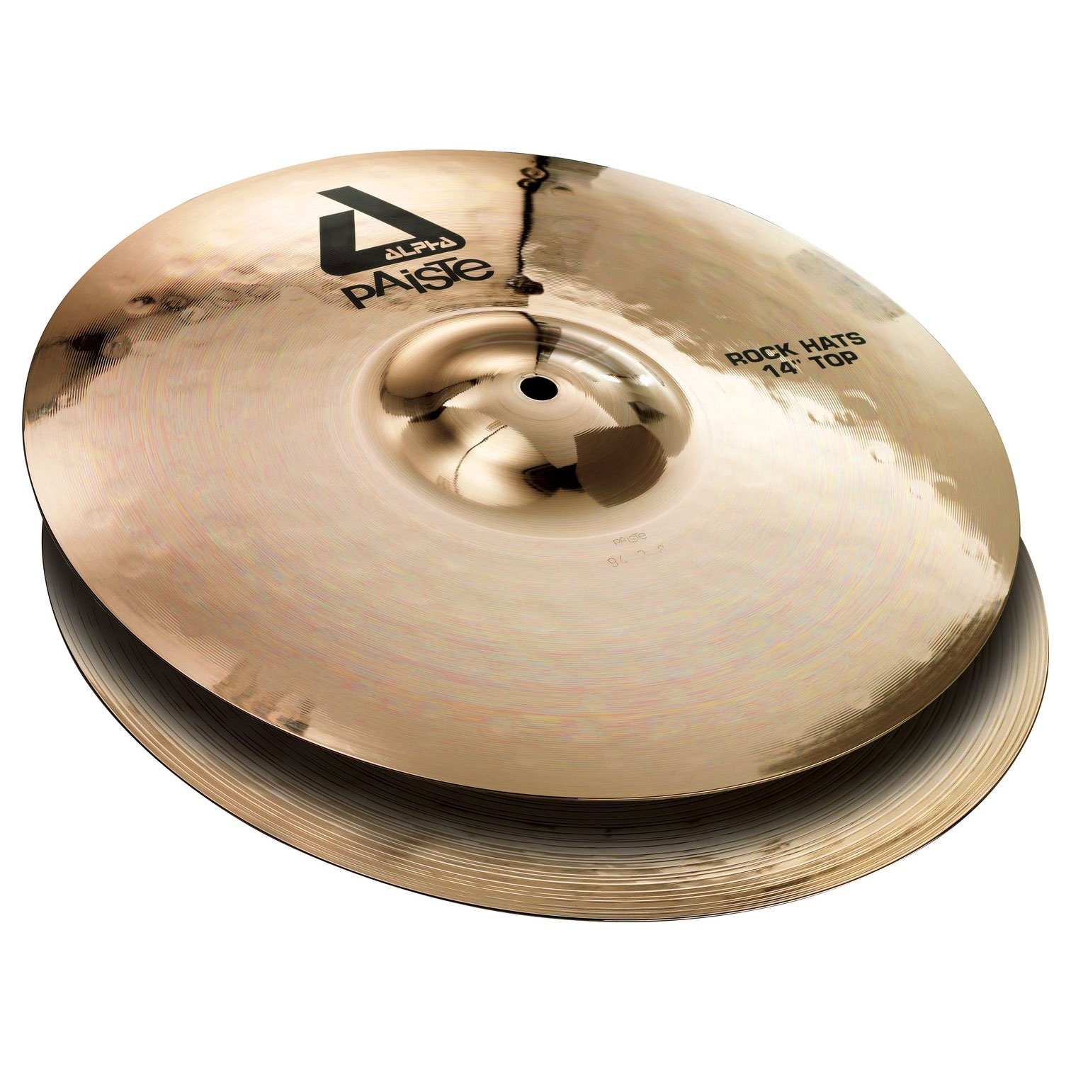 "Paiste 14"" Alpha Medium Hi Hat Cymbals with Brilliant Finish"