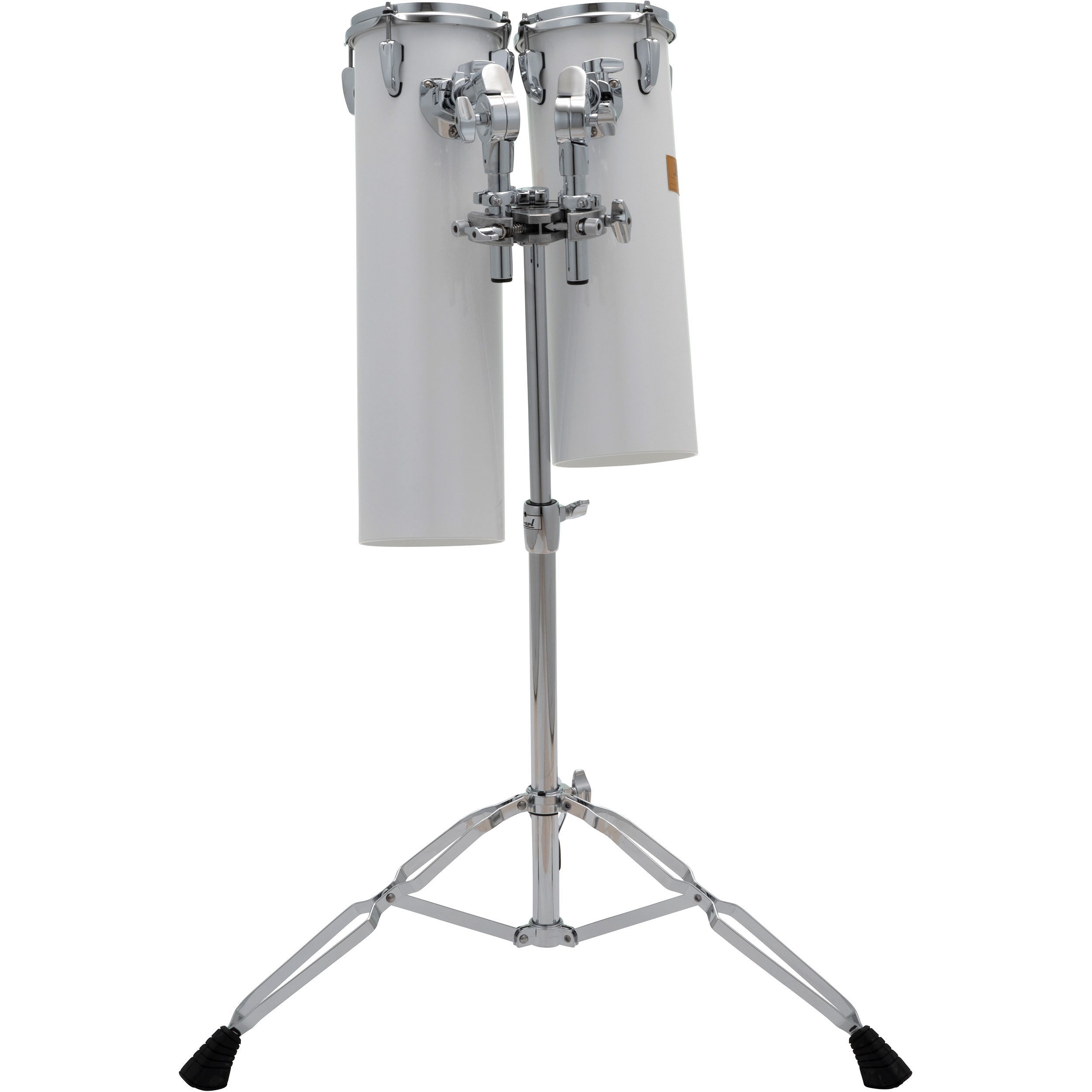 """Pearl 18"""" & 21"""" Rocket Tom Set with Stand in White"""