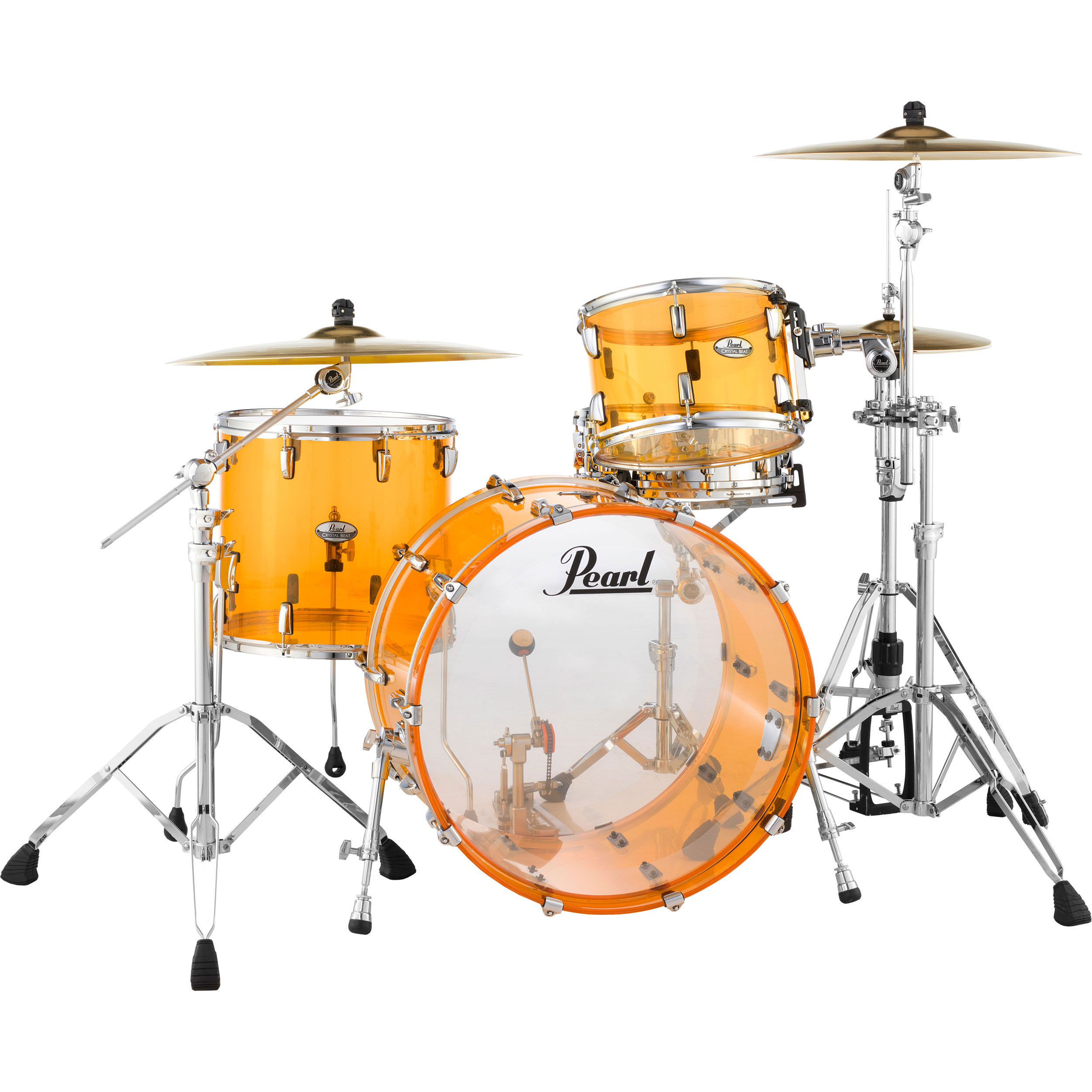 """Pearl Crystal Beat """"One Up One Down"""" Acrylic 3-Piece Drum Set Shell Pack (24"""" Bass, 13/16"""" Toms)"""