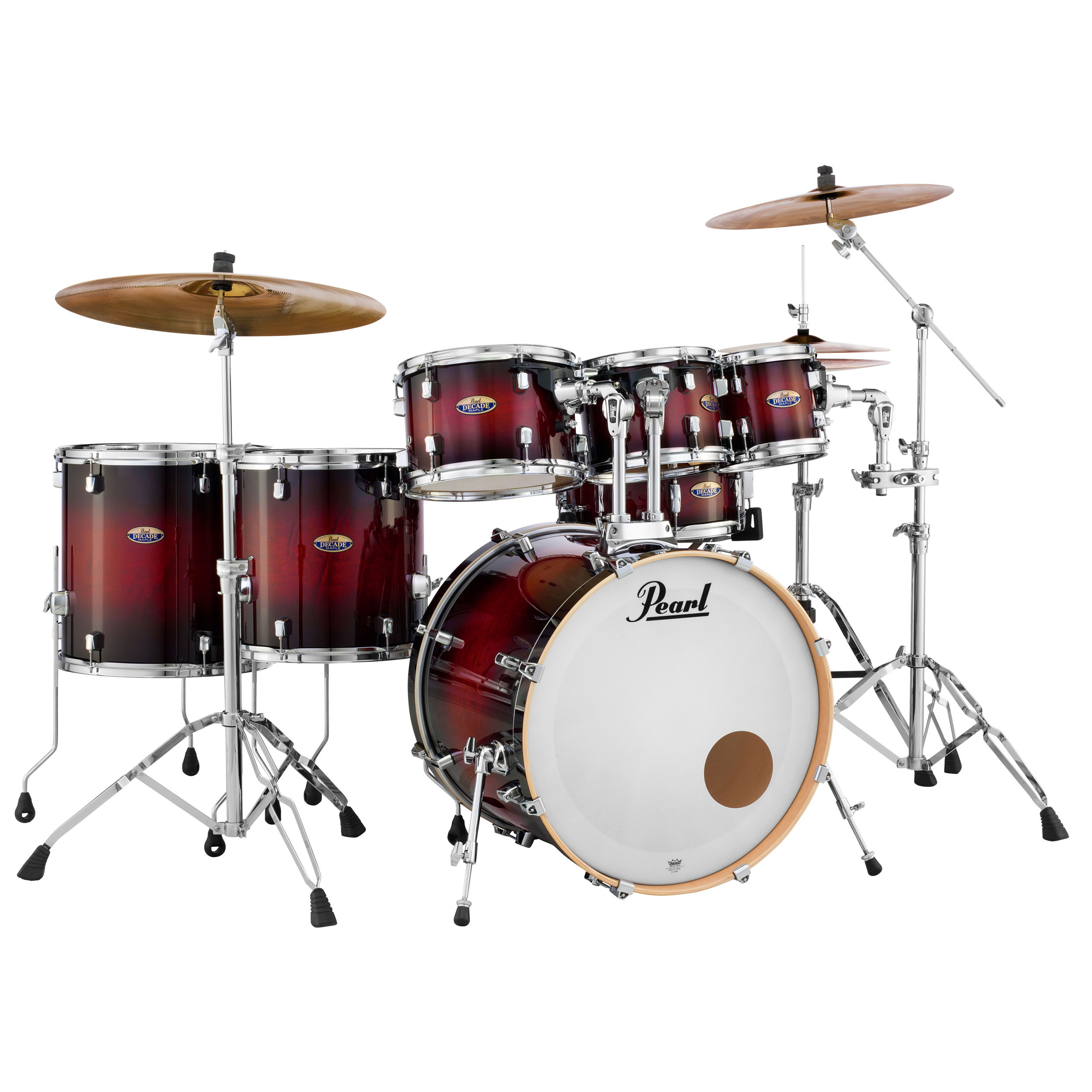 """Pearl Decade Maple 7-Piece Drum Set Shell Pack (22"""" Bass, 8/10/12/14/16"""" Toms, 14"""" Snare)"""