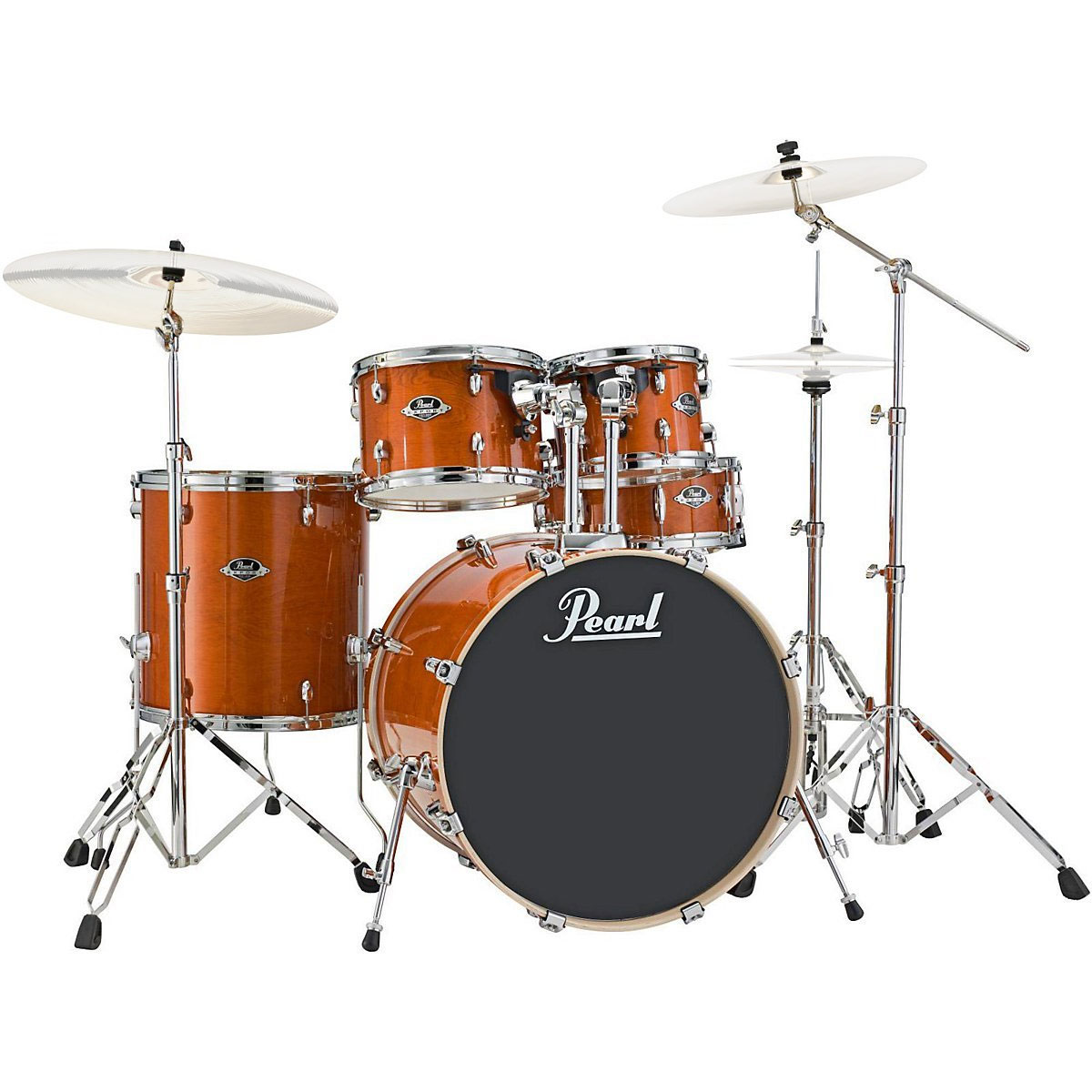 "Pearl EXL Export Lacquer 5-Piece Drum Set with Hardware (20"" Bass, 10/12/14"" Toms, 14"" Snare)"