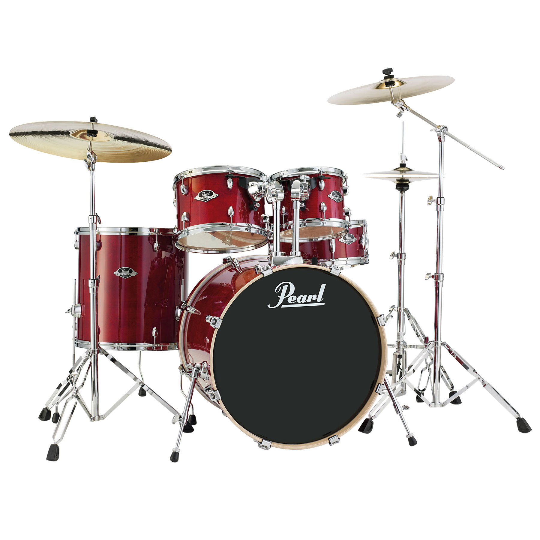 "Pearl EXL Export Lacquer 5-Piece Drum Set with Hardware (22"" Bass, 10/12/16"" Toms, 14"" Snare)"