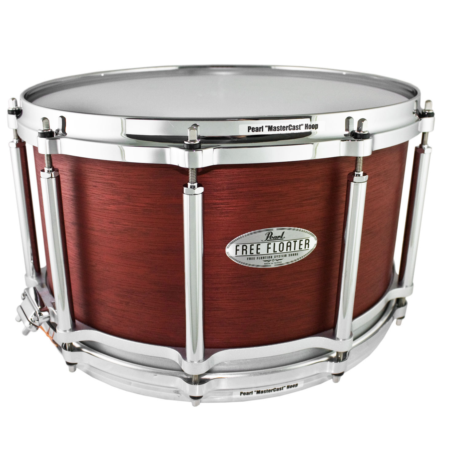 "Pearl 14"" x 8"" Task-Specific Free Floating African Mahogany Snare Drum"
