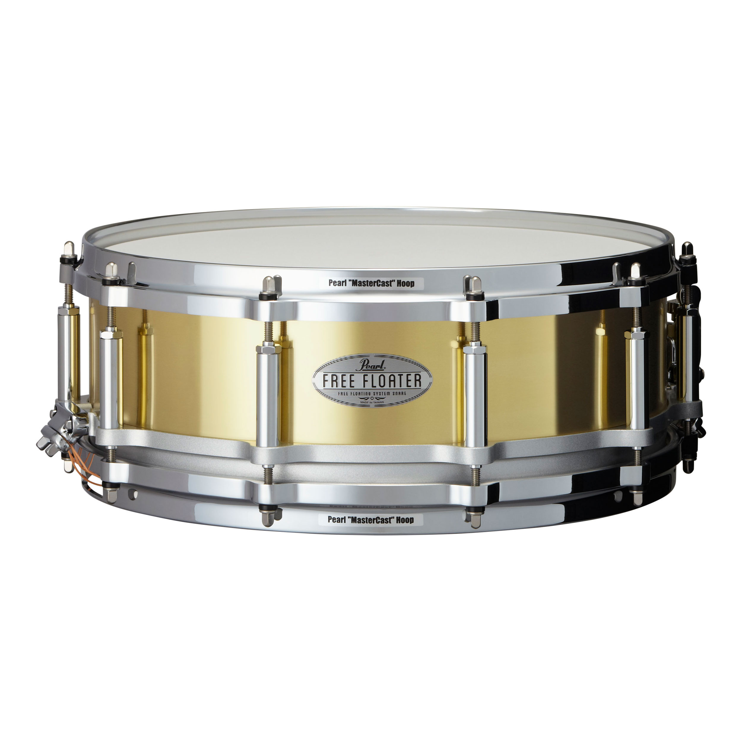 "Pearl 14"" x 5"" Task-Specific Free Floating Brass Snare Drum"