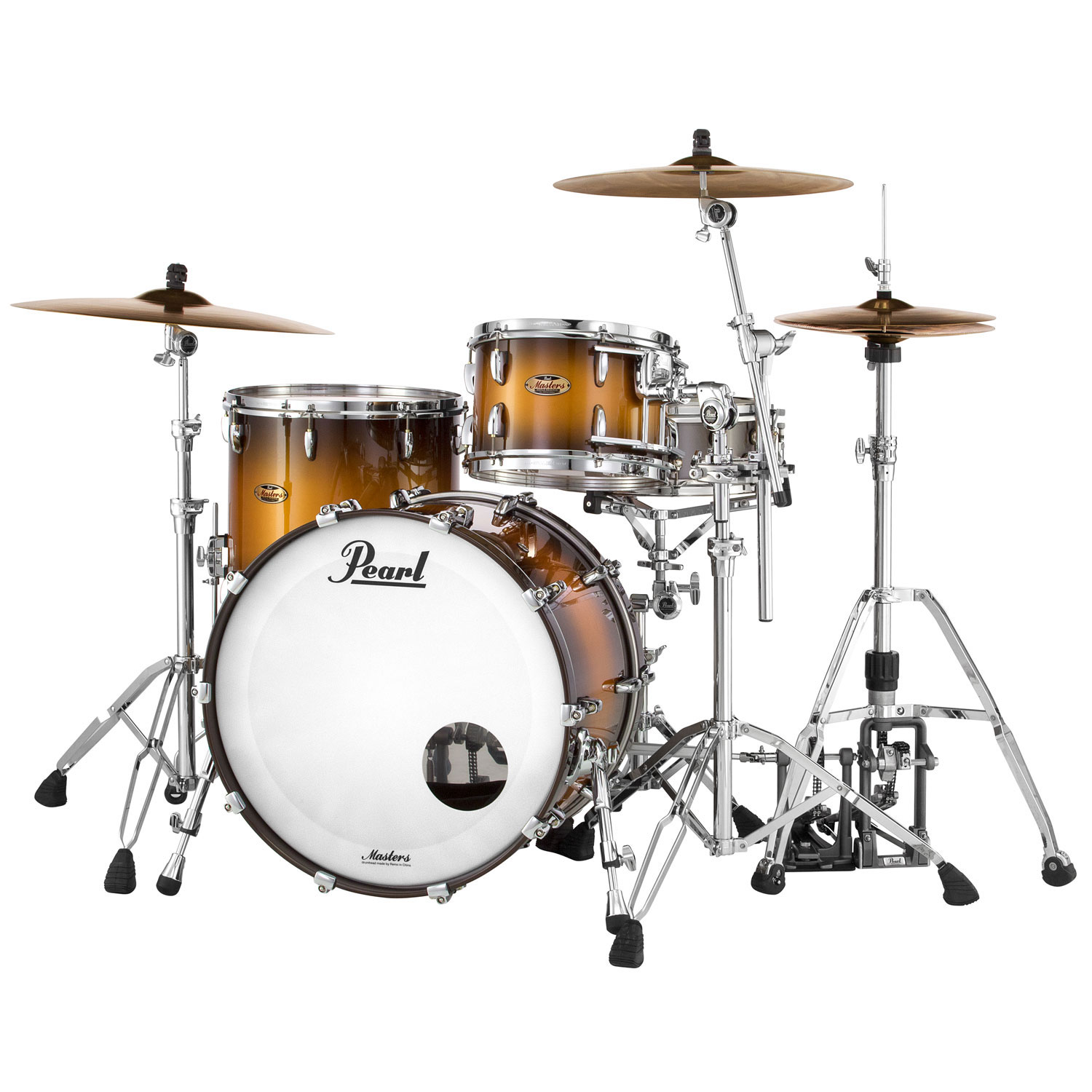 """Pearl Masters Maple Complete 3-Piece Drum Set Shell Pack (20"""" Bass, 12/14"""" Toms)"""