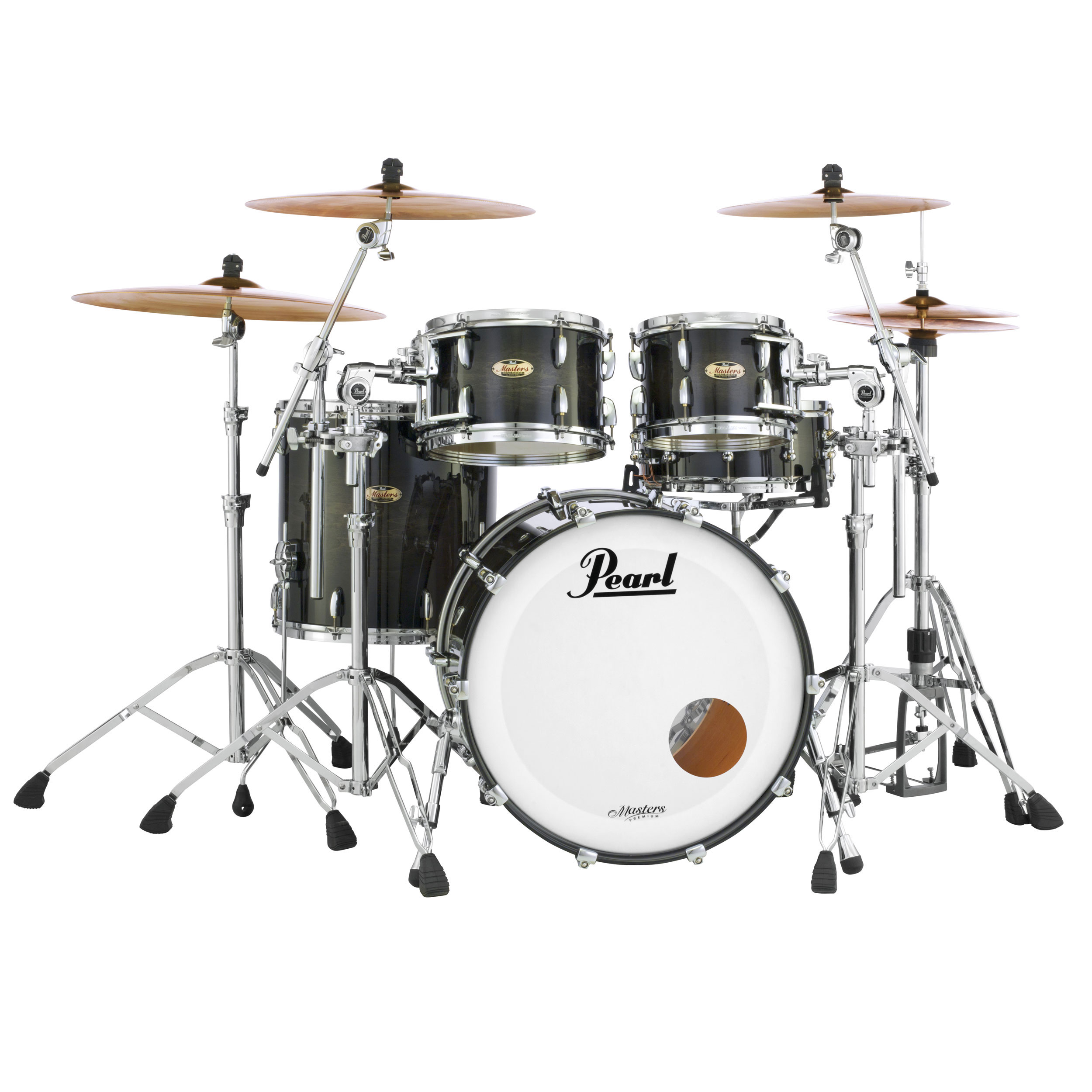 """Pearl Masters Maple Complete 4-Piece Drum Set Shell Pack (22"""" Bass, 10/12/16"""" Toms)"""