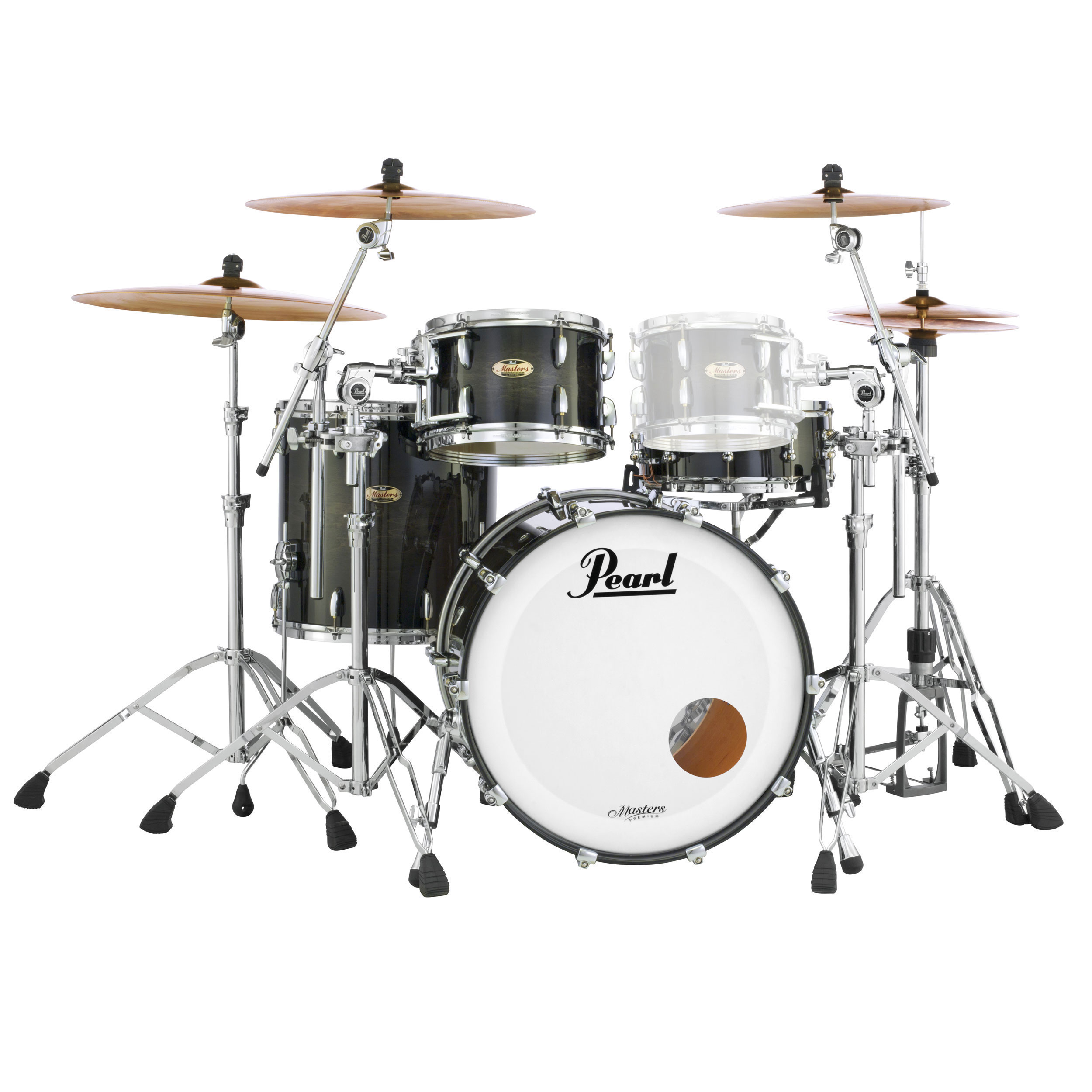 """Pearl Masters Maple Complete 3-Piece Drum Set Shell Pack (24"""" Bass, 13/16"""" Toms)"""