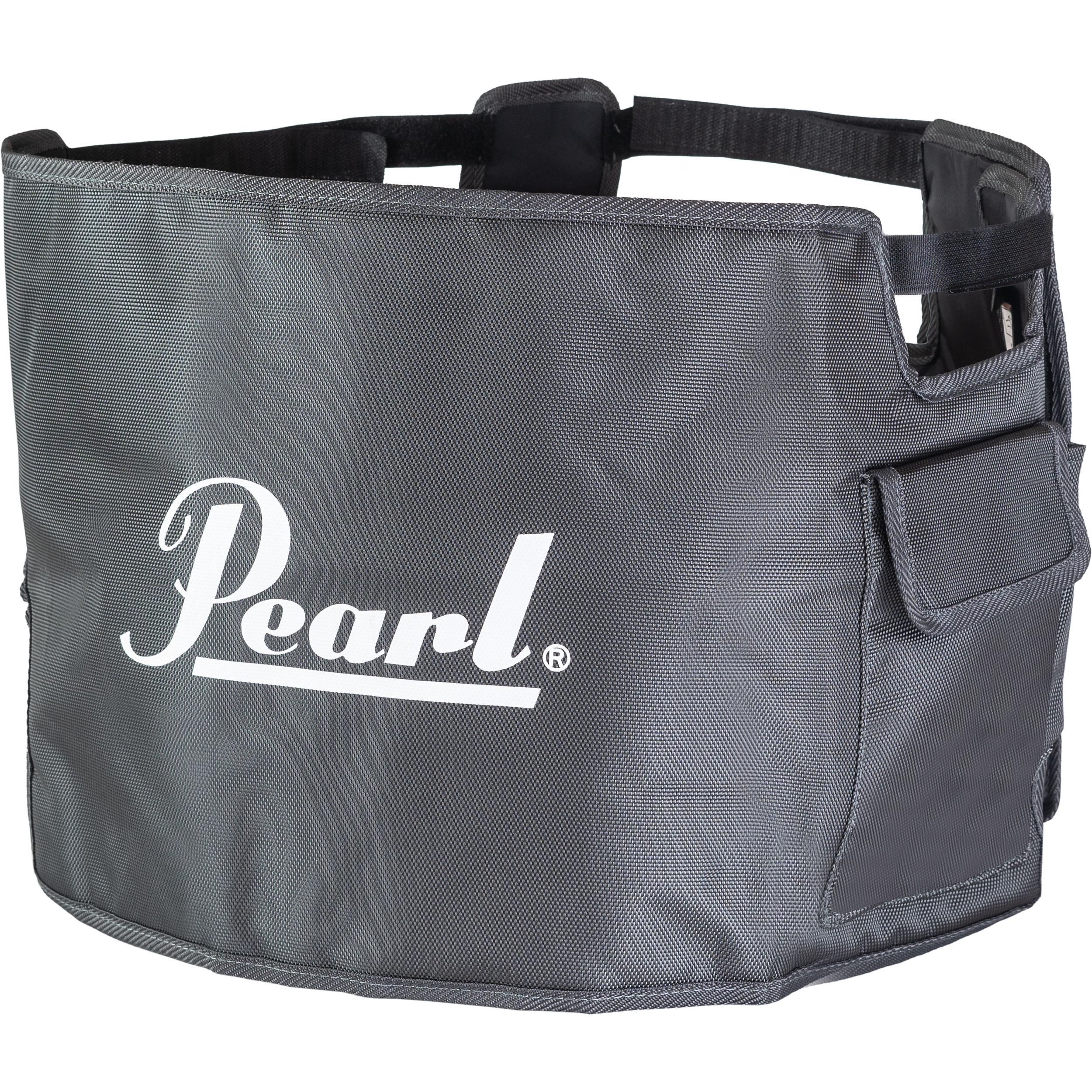 "Pearl 14"" Gray Marching Snare Drum Cover"