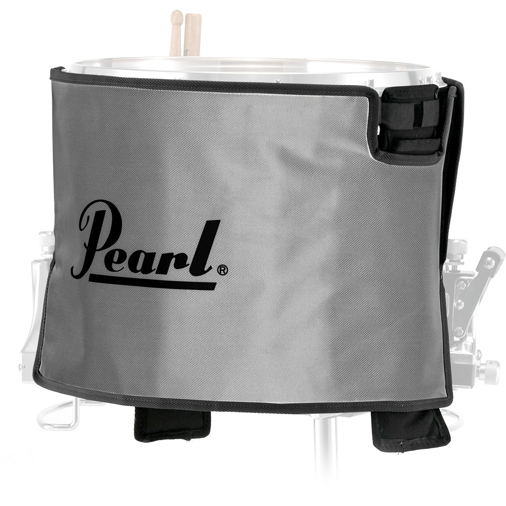 "Pearl 13"" Gray Marching Snare Drum Cover"