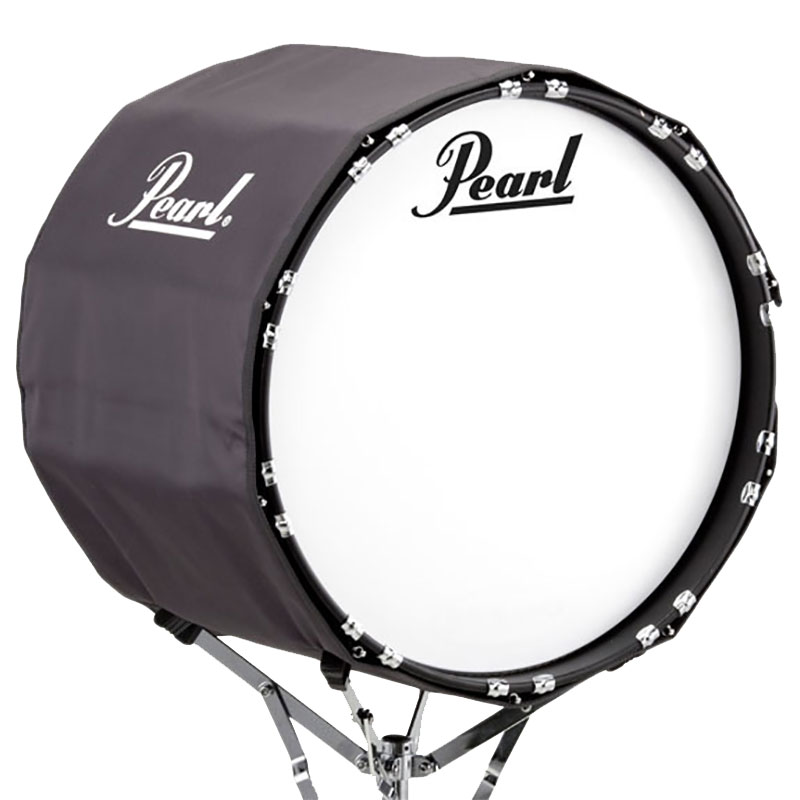 "Pearl 22"" Gray Marching Bass Cover"