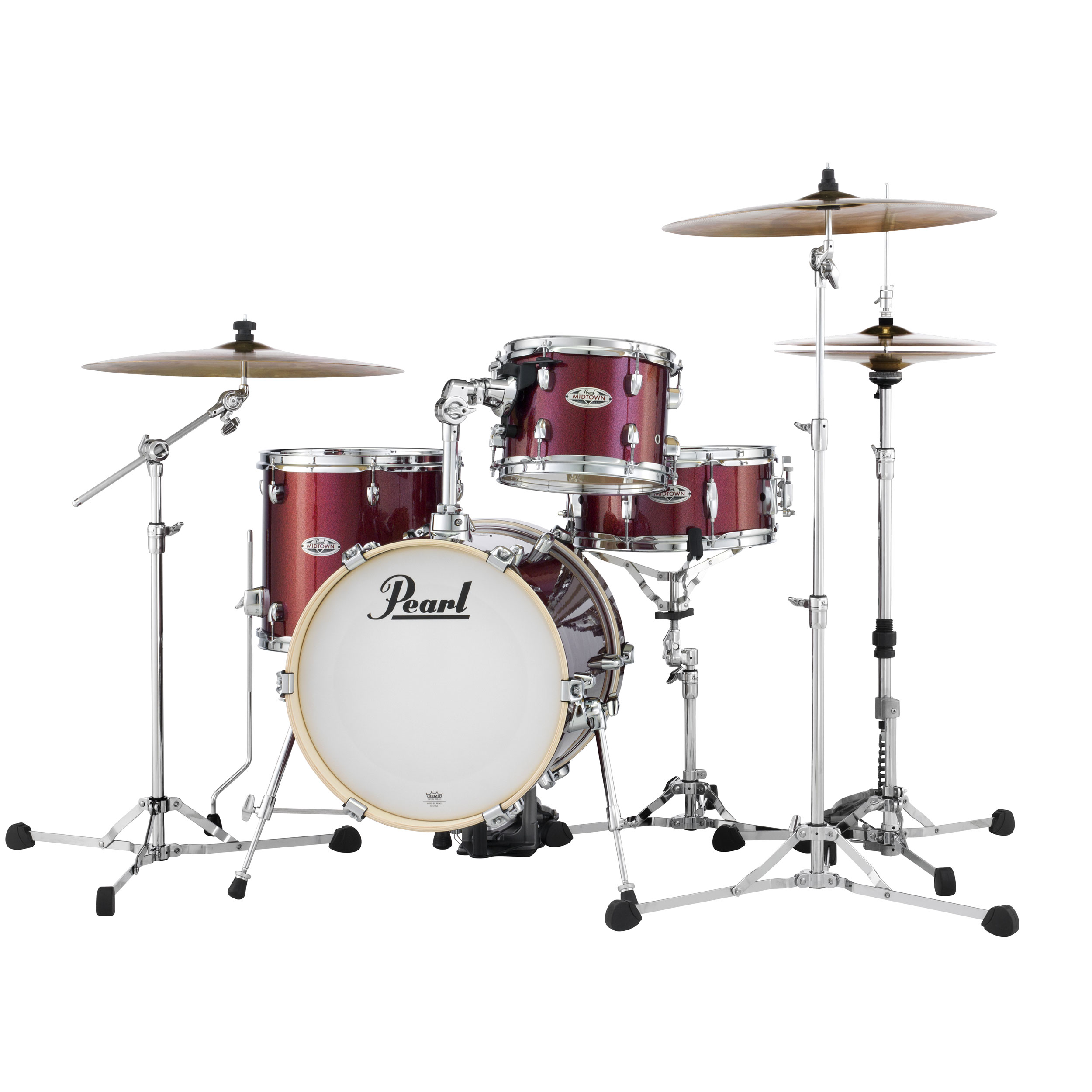 """Pearl Midtown 4-Piece Drum Set Shell Pack (16"""" Bass, 10/13"""" Toms, 13"""" Snare) with Bags"""