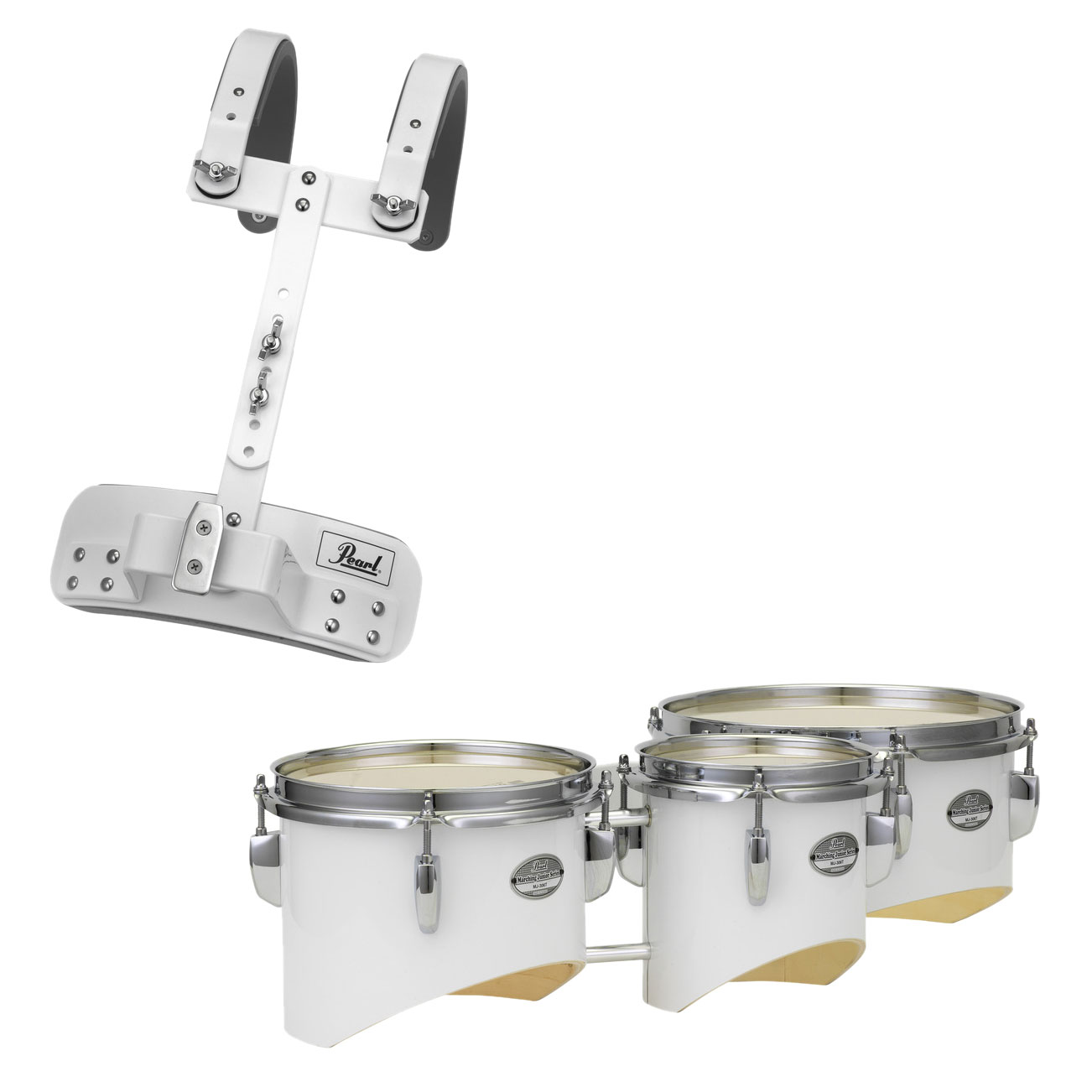 "Pearl 6/8/10"" Junior Marching Trio Tenors with Carrier"