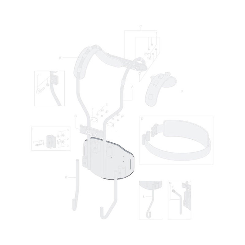 Pearl Torso Plate Cushion for CX Airframe Marching Carrier
