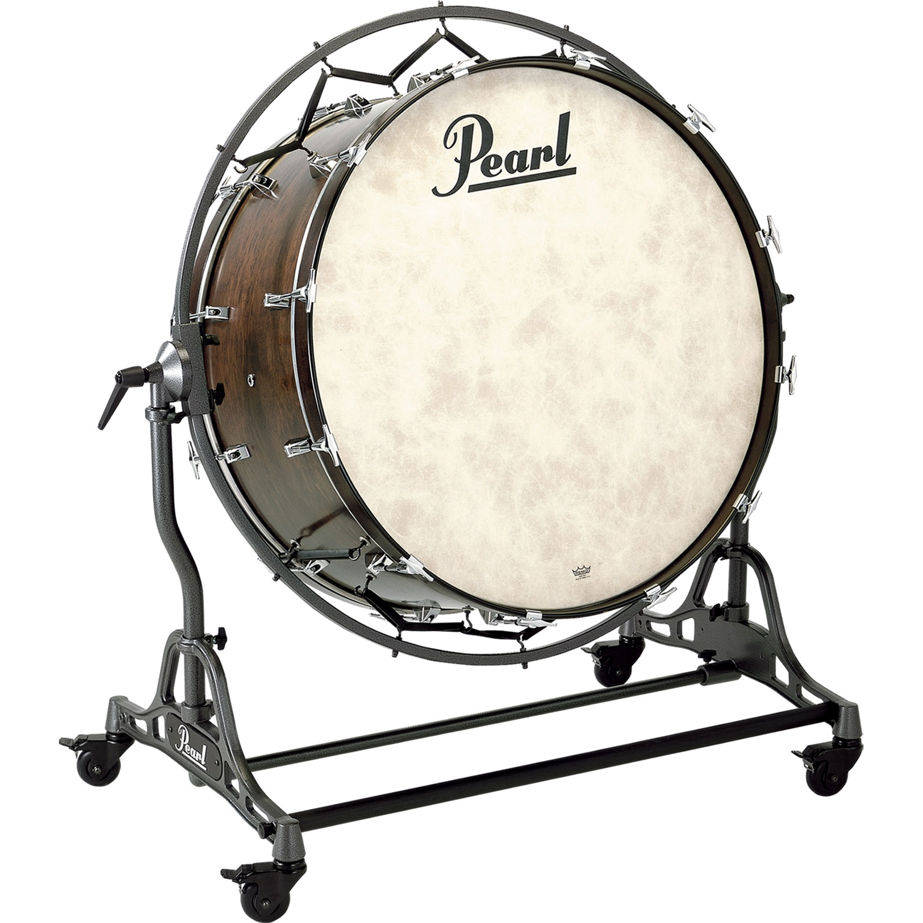 "Pearl 36"" (Diameter) x 18"" (Deep) Philharmonic African Mahogany Concert Bass Drum with STBD Stand"