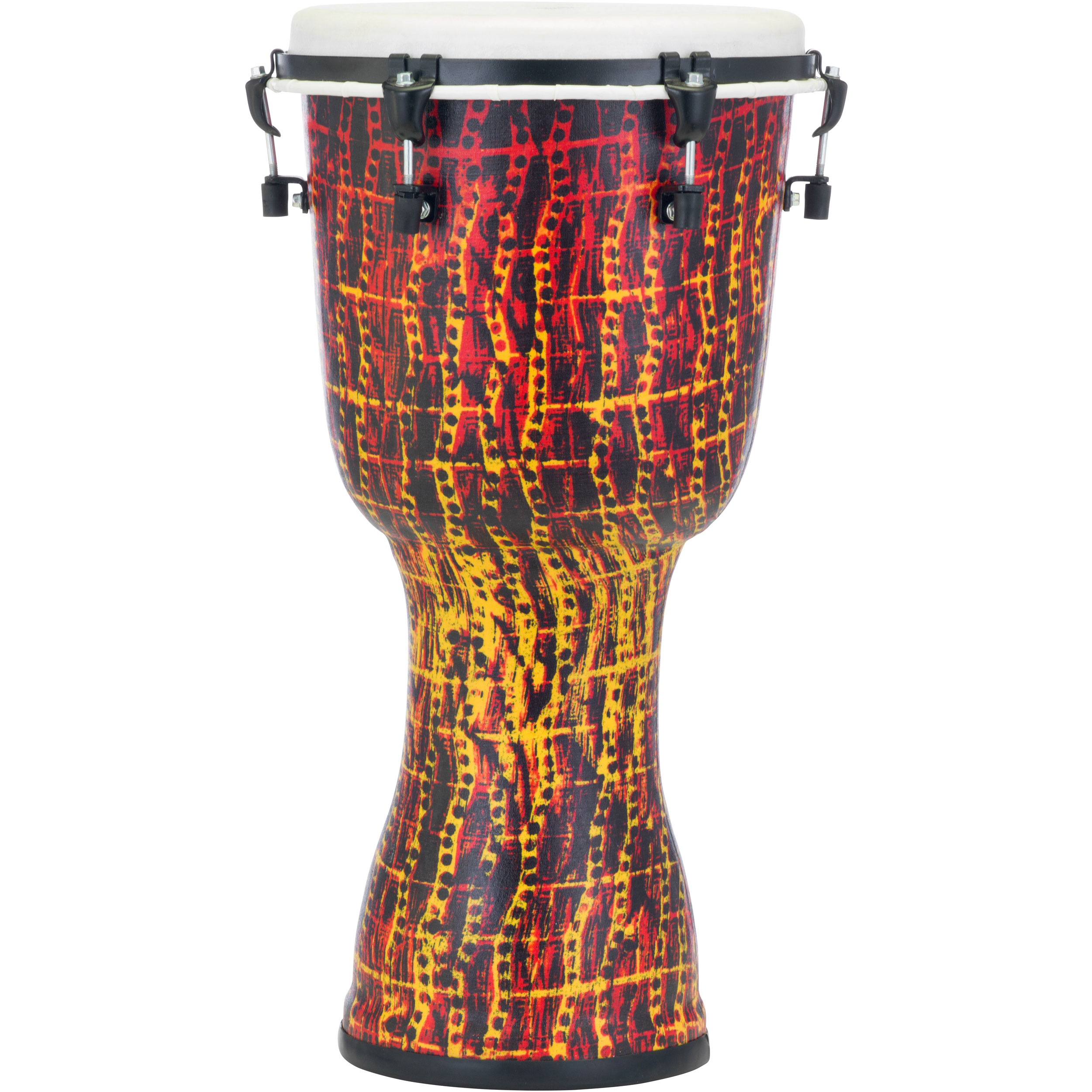 "Pearl 12"" Top Tuned Djembe in Tribal Fire"