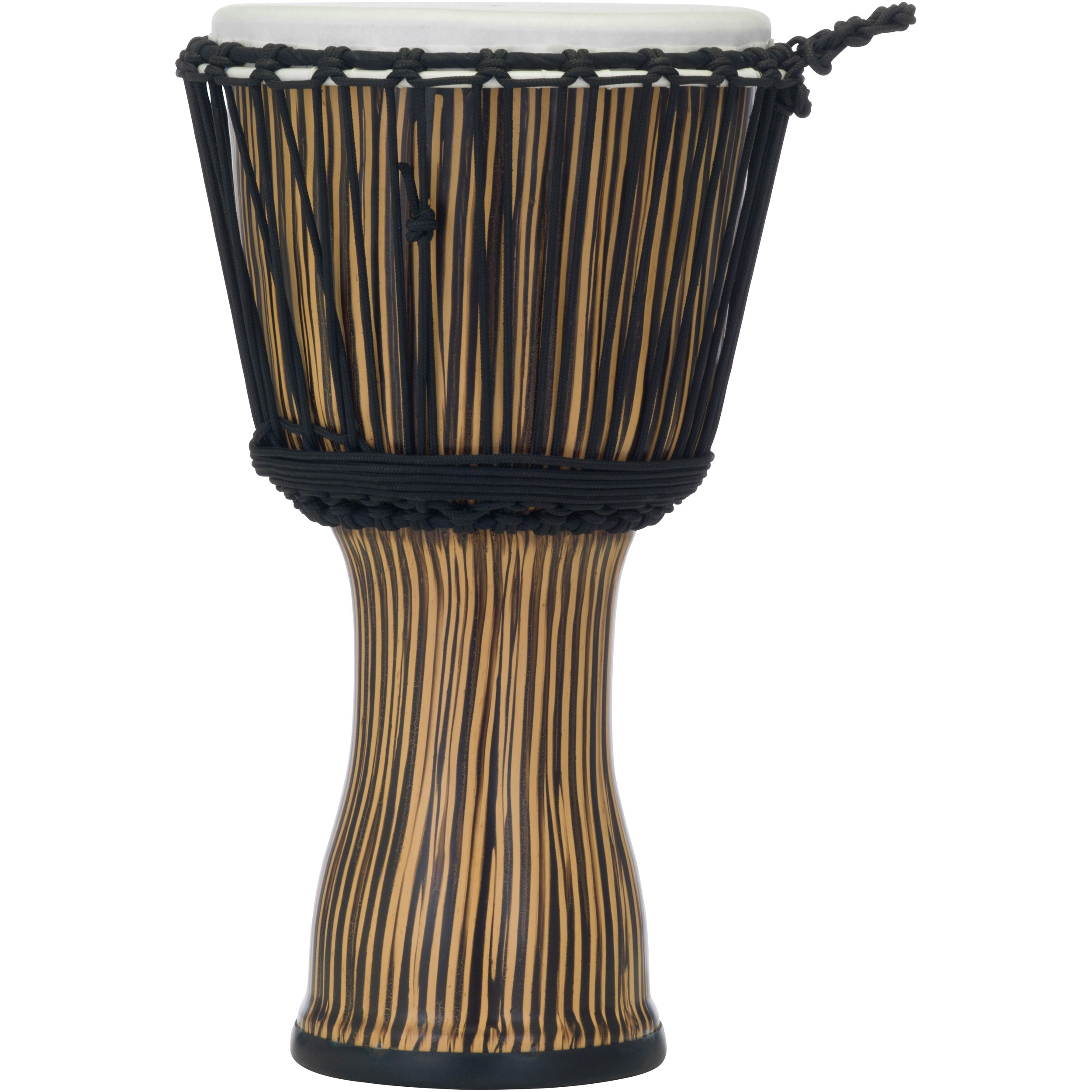 "Pearl 10"" Rope Tuned Djembe in Zebra Grass"