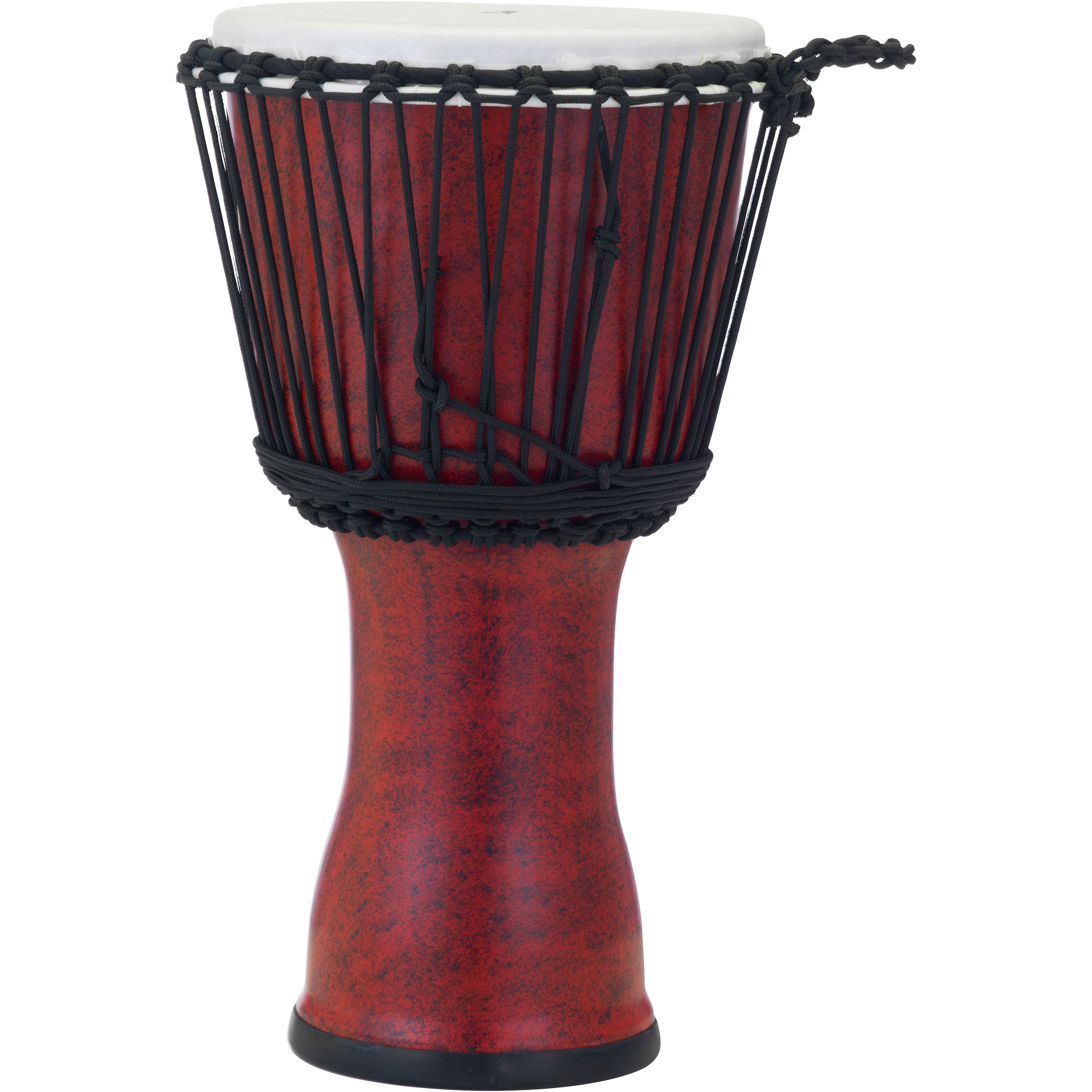 """Pearl 10"""" Rope Tuned Djembe in Molten Scarlet"""