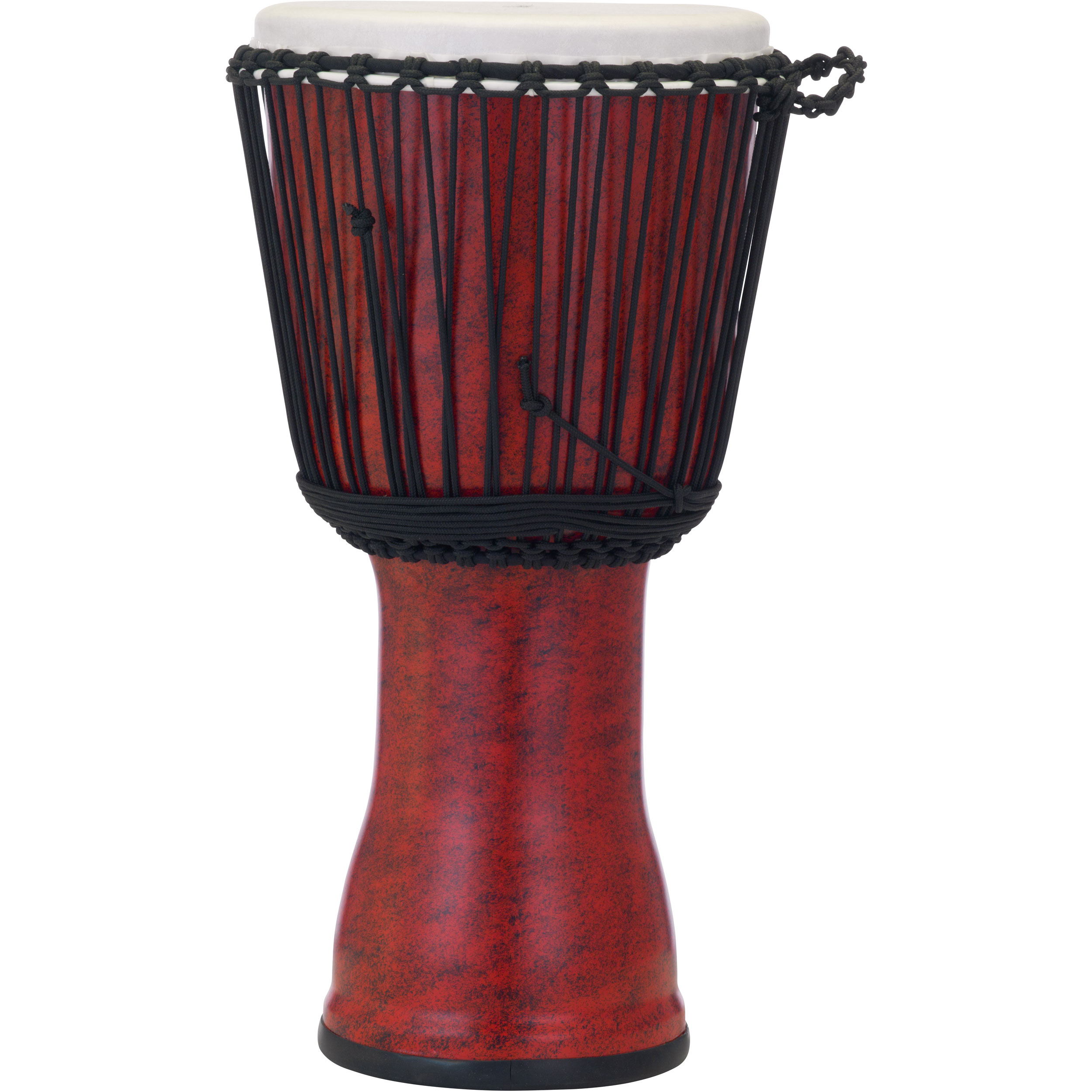 """Pearl 12"""" Rope Tuned Djembe in Molten Scarlet"""