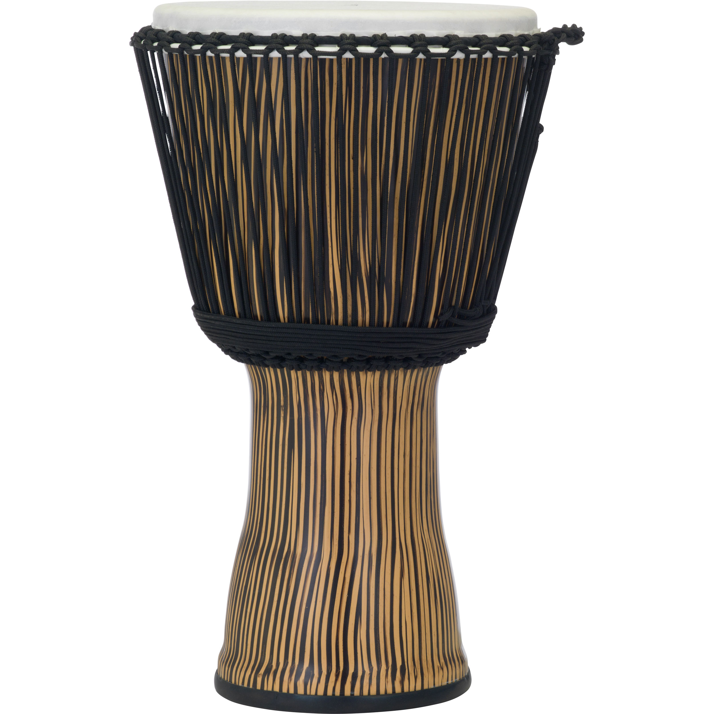 "Pearl 14"" Rope Tuned Djembe in Zebra Grass"