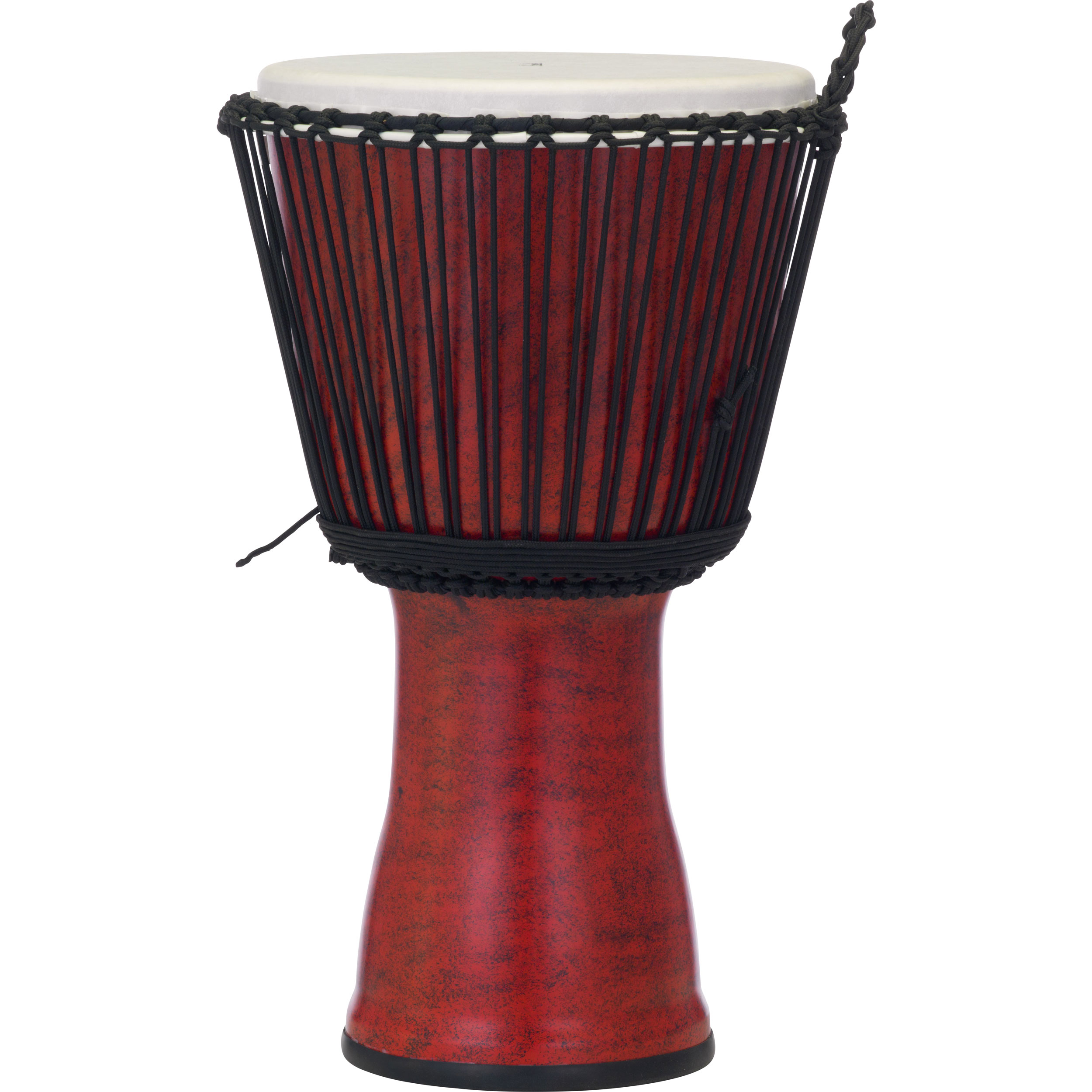 """Pearl 14"""" Rope Tuned Djembe in Molten Scarlet"""