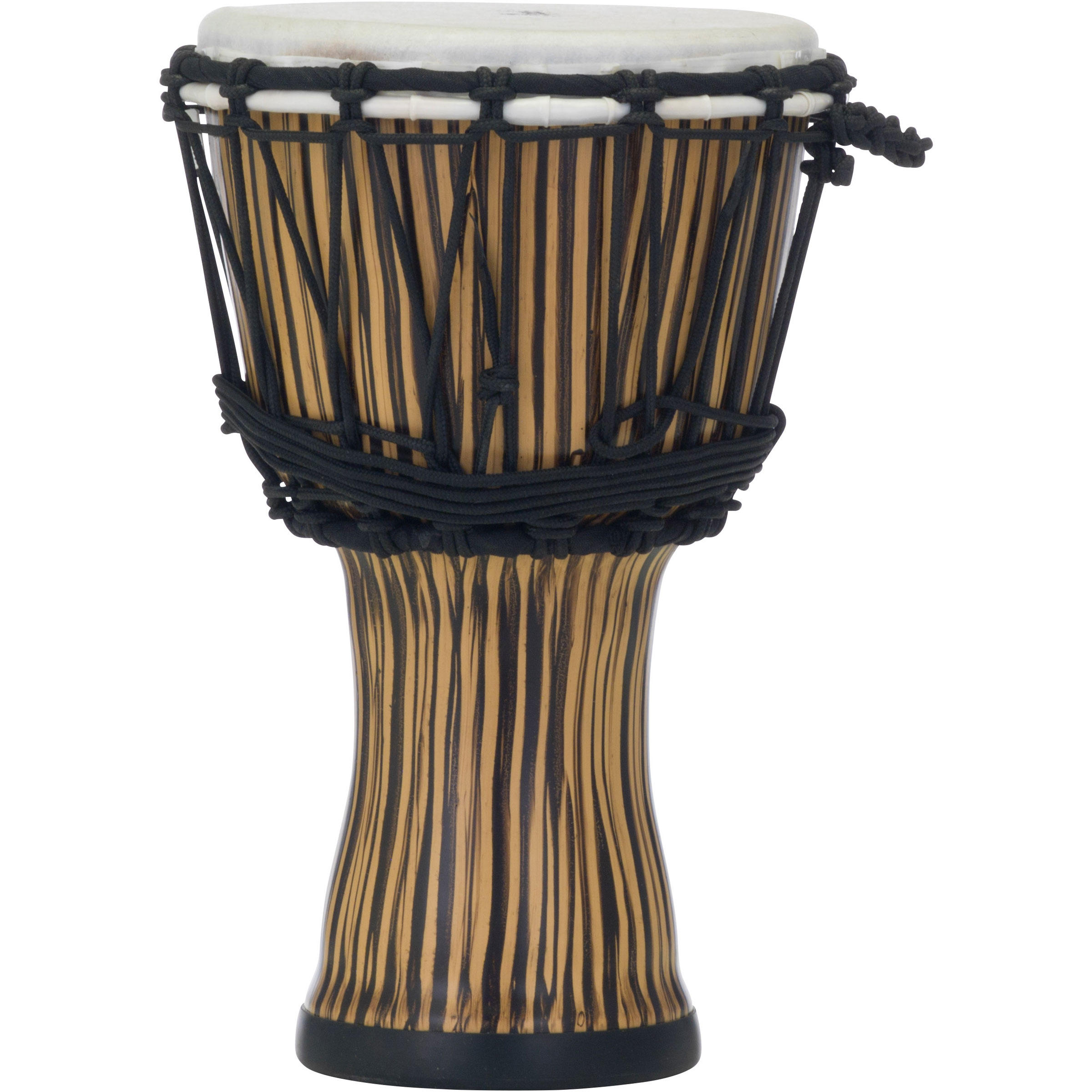 "Pearl 7"" Rope Tuned Djembe in Zebra Grass"
