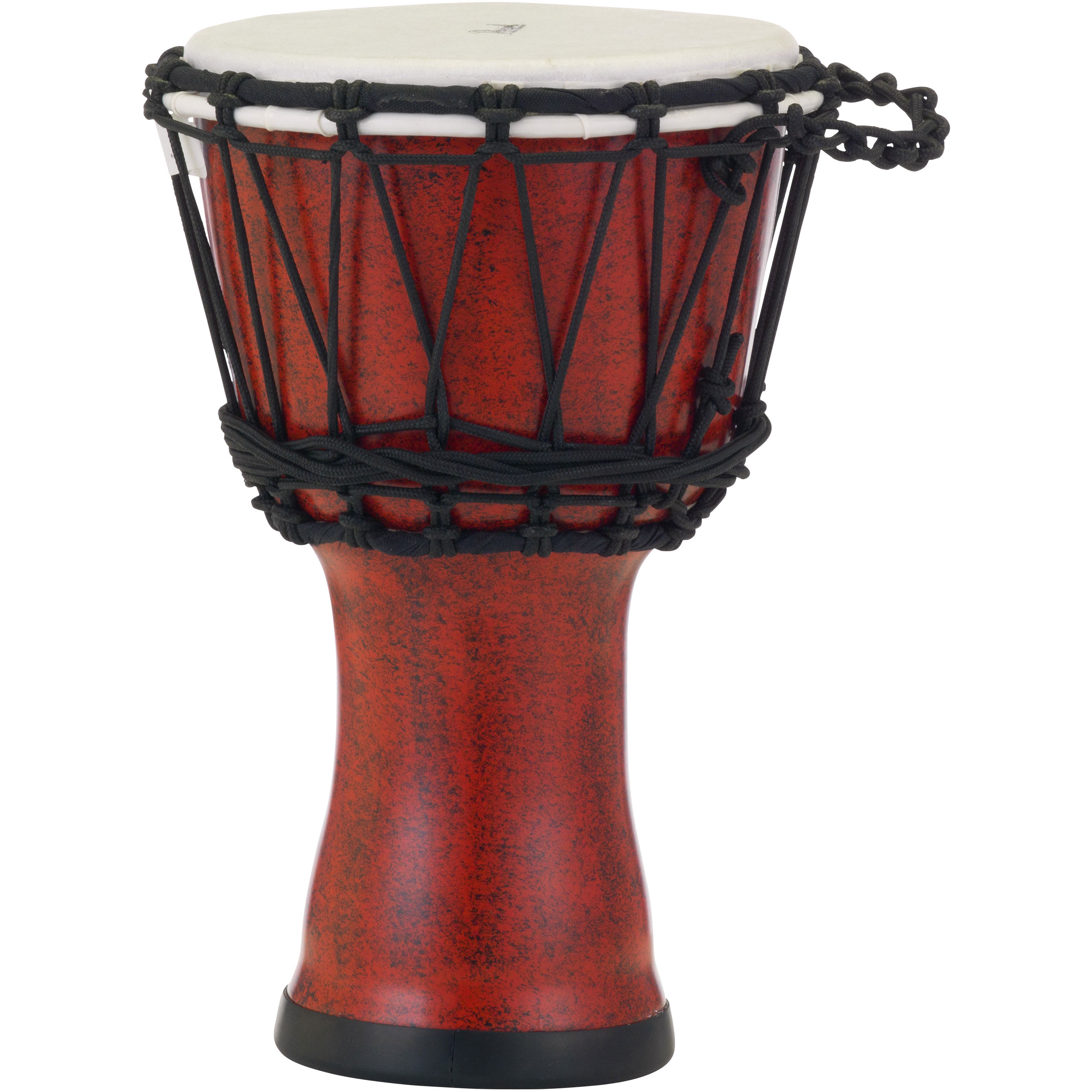 """Pearl 7"""" Rope Tuned Djembe in Molten Scarlet"""