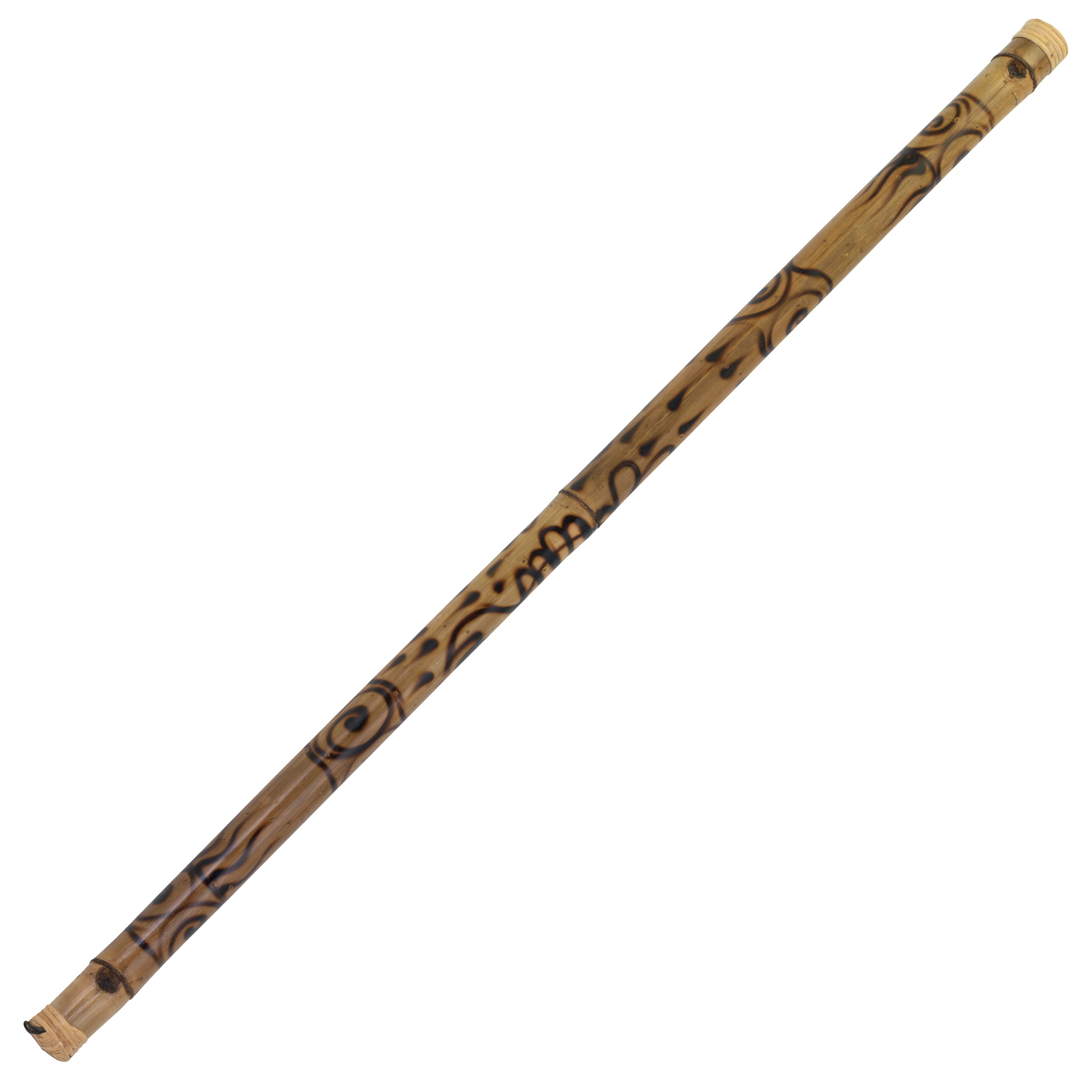 "Pearl 60"" Bamboo Rainstick with Rhythm Water Woodburned Design"