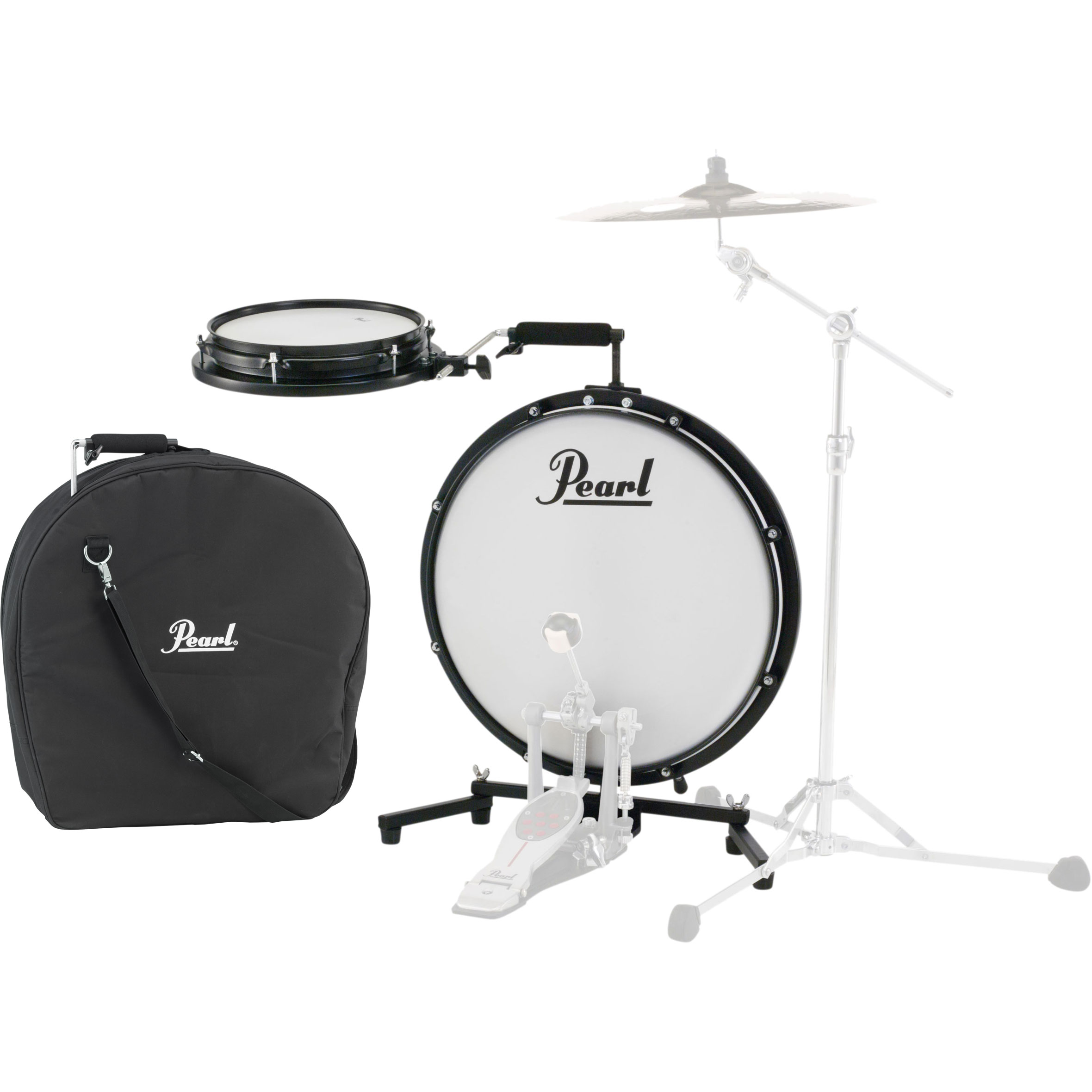 "Pearl Compact Traveler 2-Piece Drum Set (18"" Bass, 10"" Snare) with Bag"