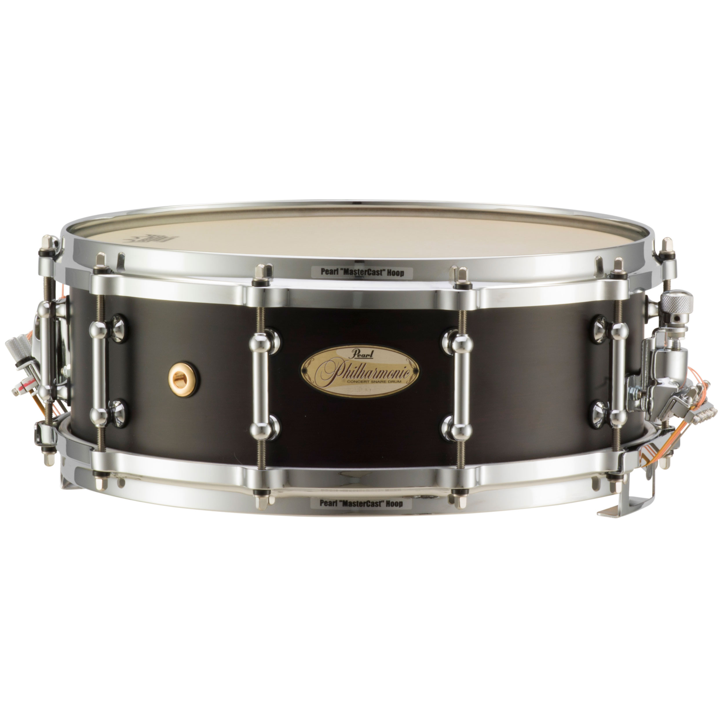 """Pearl 14"""" x 5"""" Philharmonic 4-Ply African Mahogany Concert Snare Drum in Matte Walnut"""