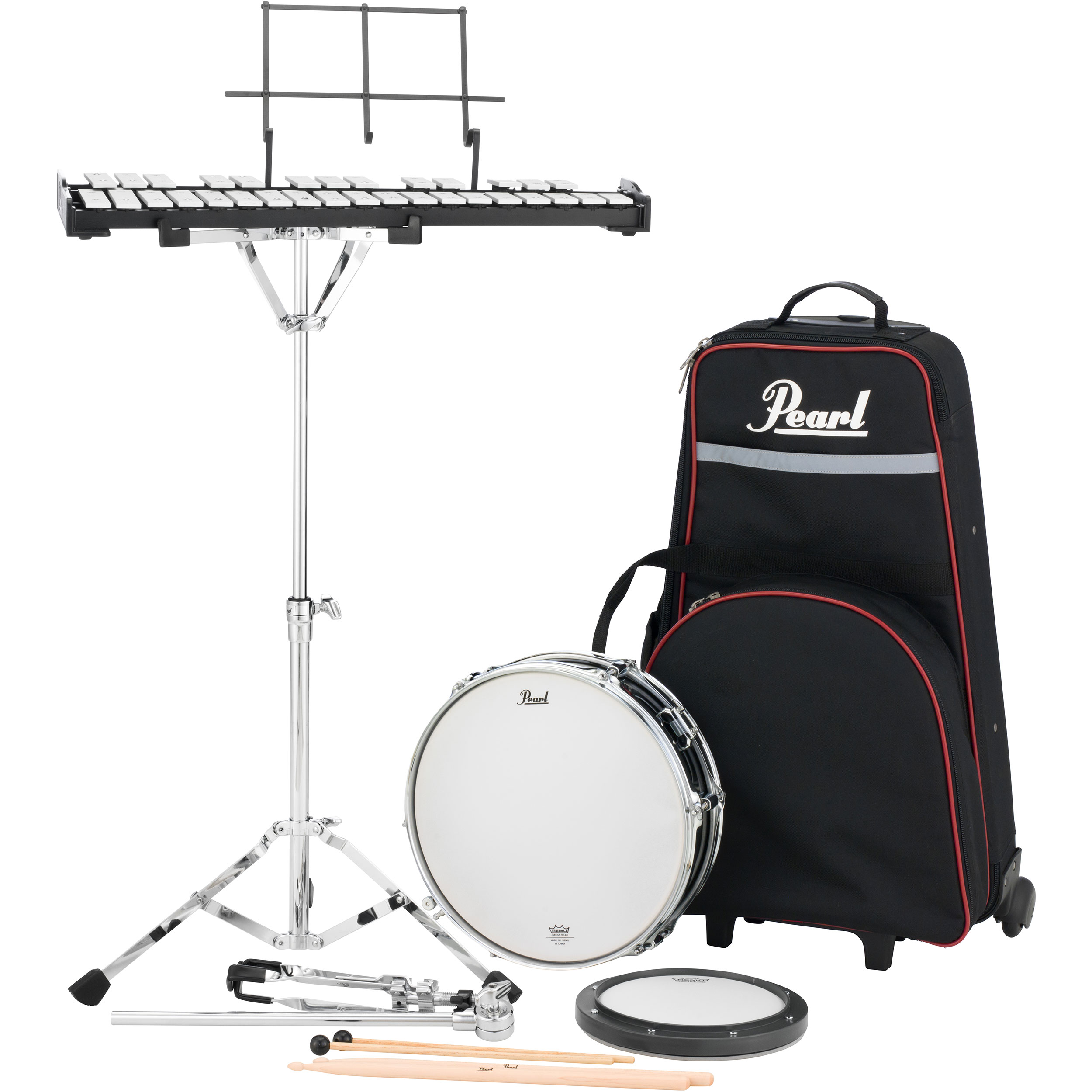 Pearl Student Percussion Learning Center with Rolling Case
