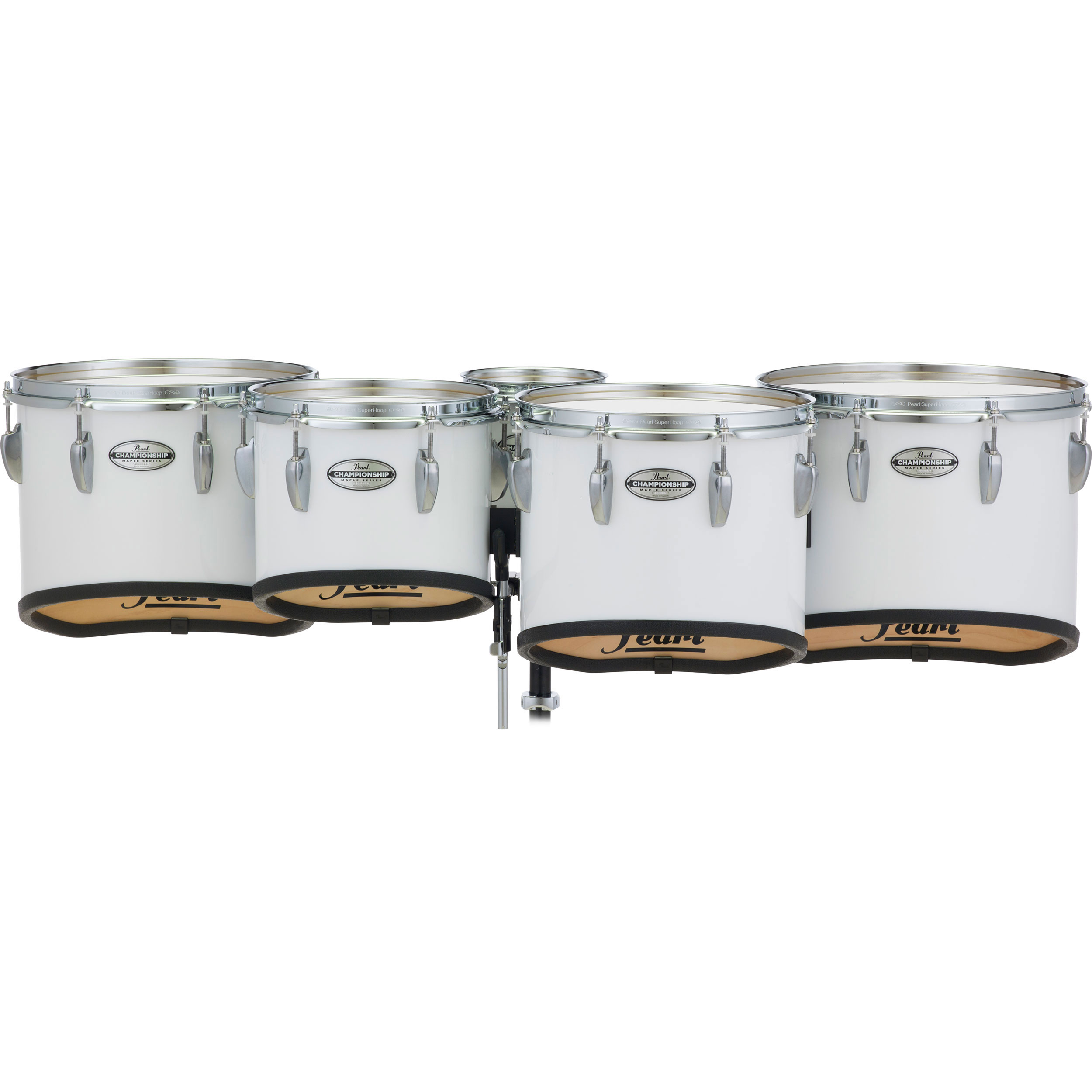 "Pearl 6-10-12-13-14""  PMTM Championship Maple Marching Tenors in Wrap Finish"