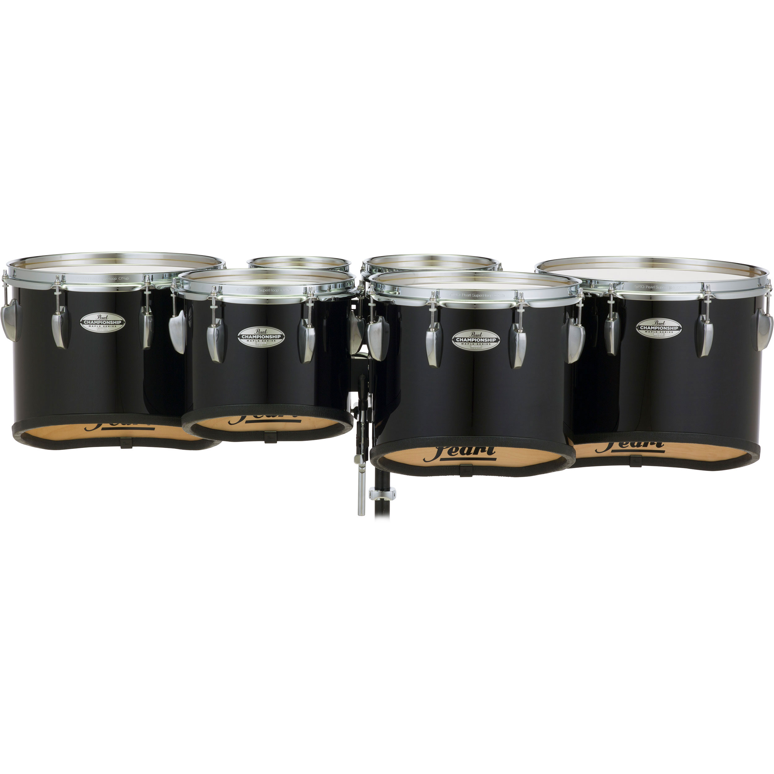 "Pearl 6-6-8-10-12-13"" PMTM Championship Maple Marching Tenors in Wrap Finish"