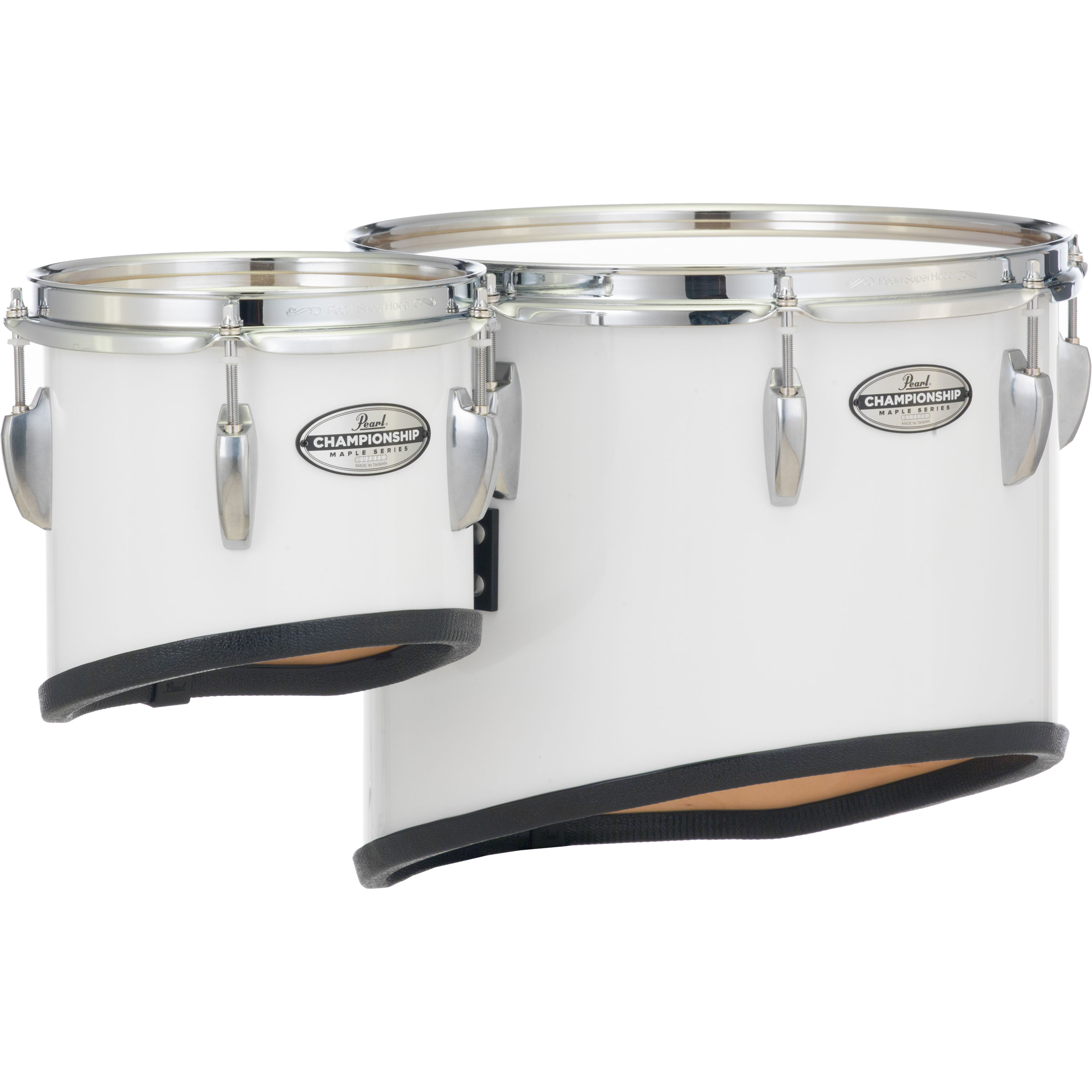 "Pearl 14""-8"" Championship Maple Sonic Cut Single Tenor Set with Mounts for CXS1 Carrier with Chrome Hardware (Specify Finish)"