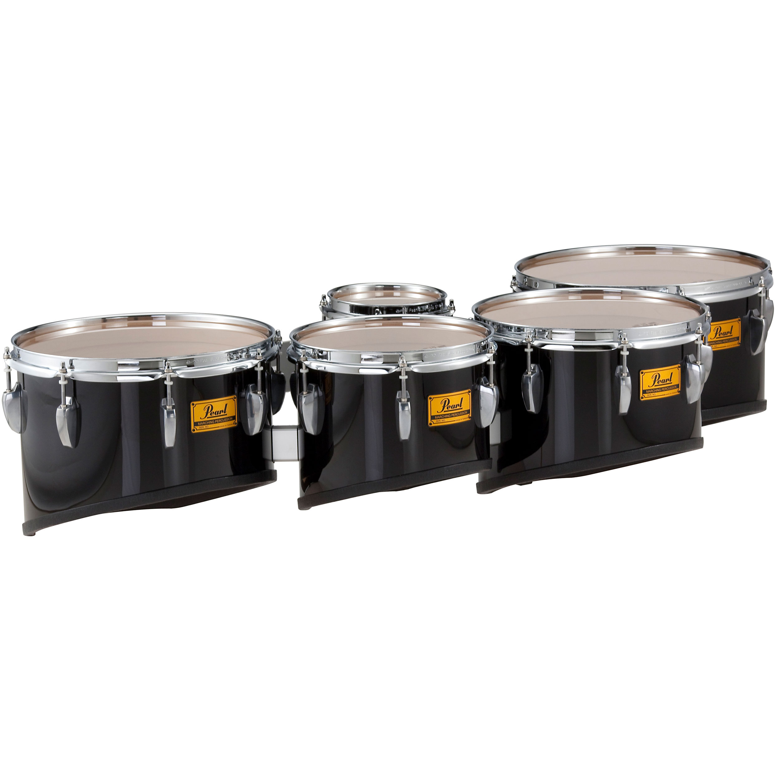 "Pearl 6-8-10-12-13"" PMTM Championship Maple Marching Tenors in Wrap Finish"