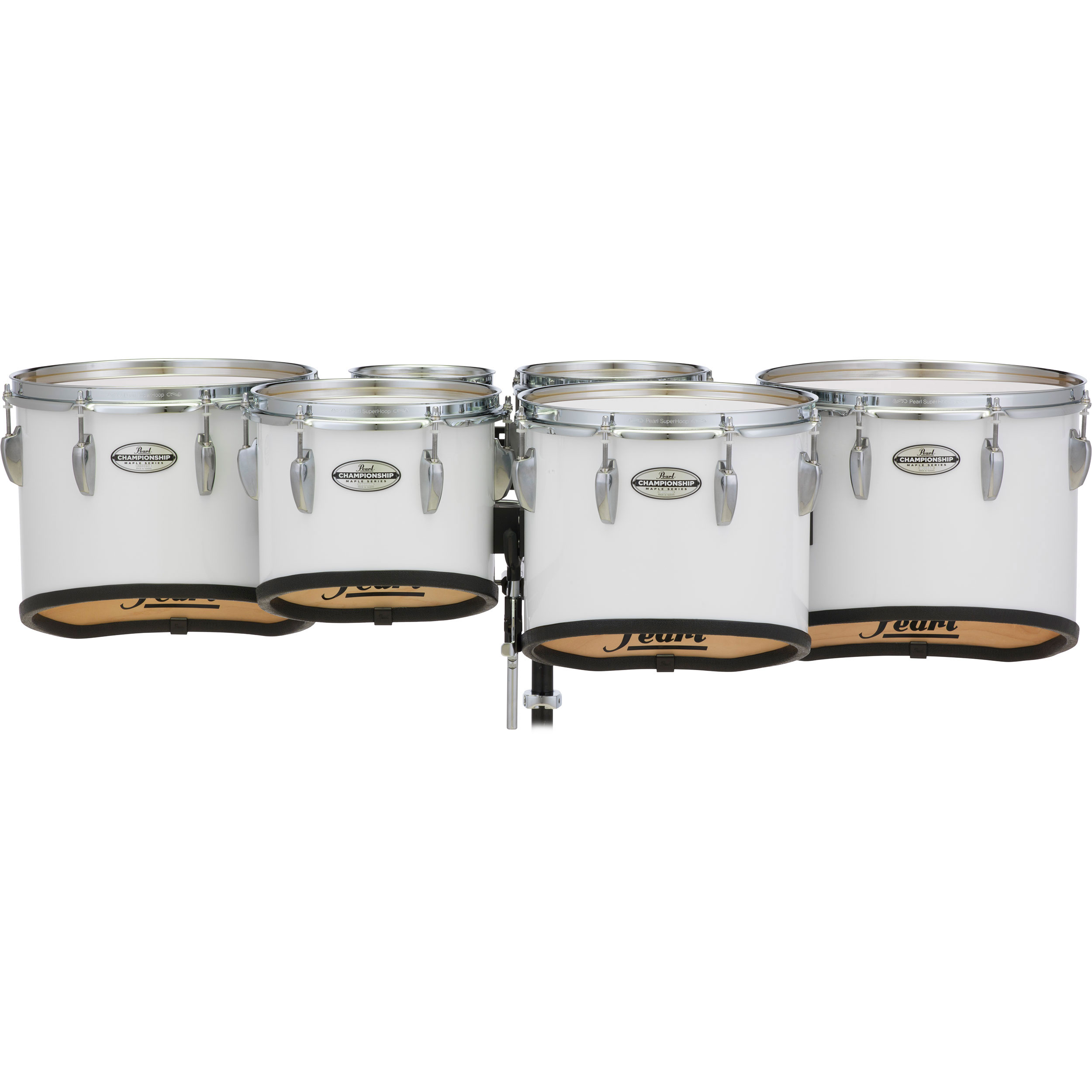 "Pearl 6-6-10-12-13-14"" PMTMS Championship Maple Shallow-Cut Marching Tenors in Wrap Finish"
