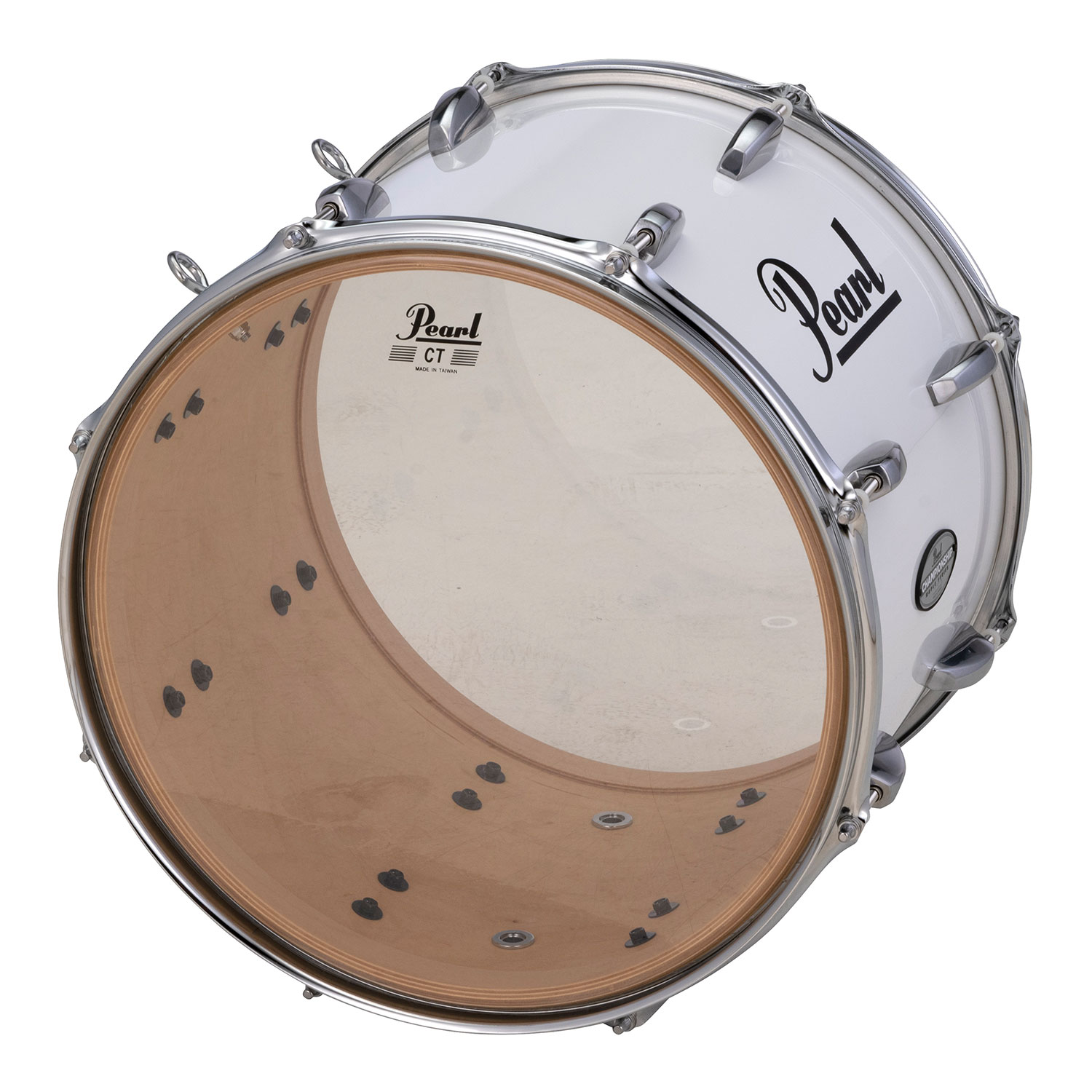 """Pearl 15"""" x 12"""" PTDM Championship Maple Traditional Marching Tenor Drum with Aluminum Hardware"""