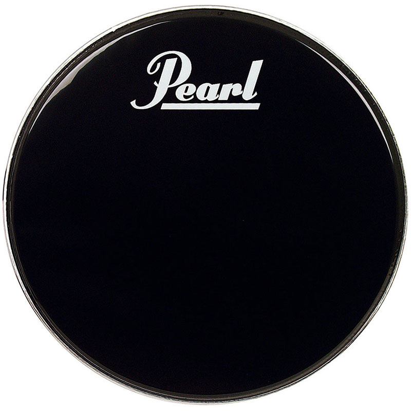 "Pearl 22"" Ebony Protone Bass Drum Head with Pearl Logo and EQ Ring"