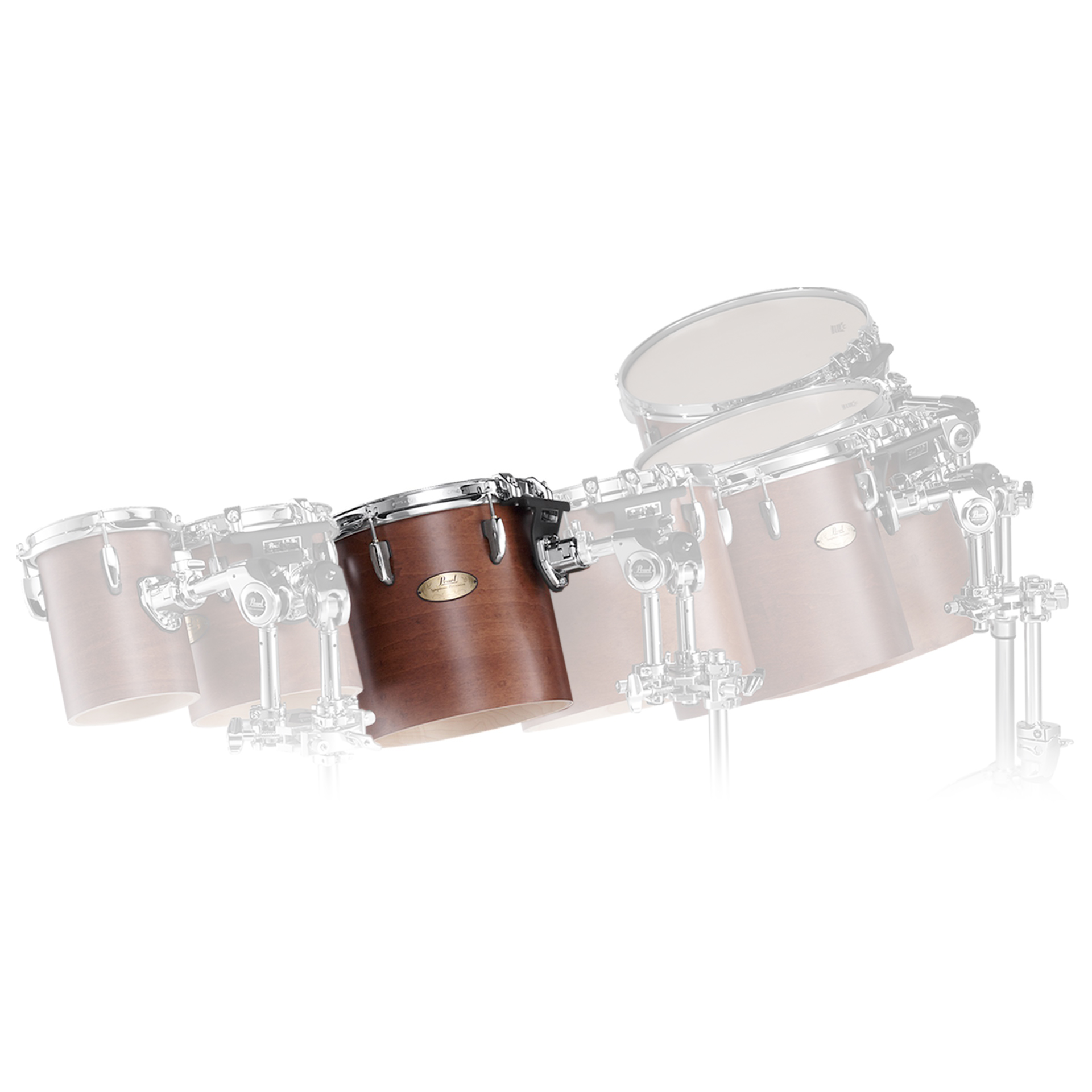 "Pearl 10"" (Diameter) x 10"" (Deep) Maple Single Headed Symphonic Tom"