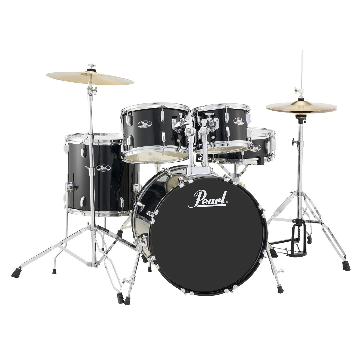 "Pearl Roadshow ""The 20"" 5-Piece Drum Set with Hardware and Cymbals (20"" Bass, 10/12/14"" Toms, 14"" Snare)"