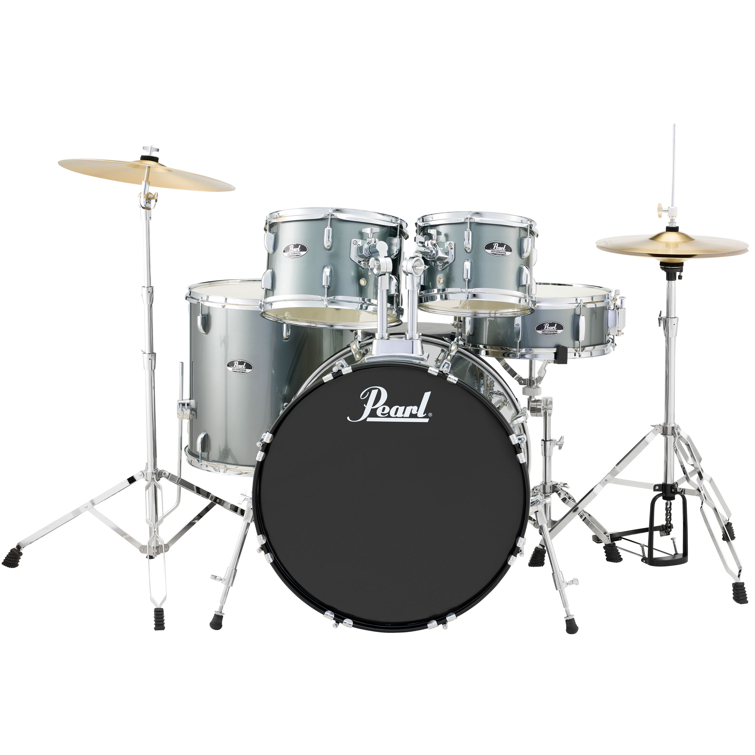 "Pearl Roadshow ""The Standard"" 5-Piece Drum Set with Hardware and Cymbals (22"" Bass, 10/12/16"" Toms, 14"" Snare)"